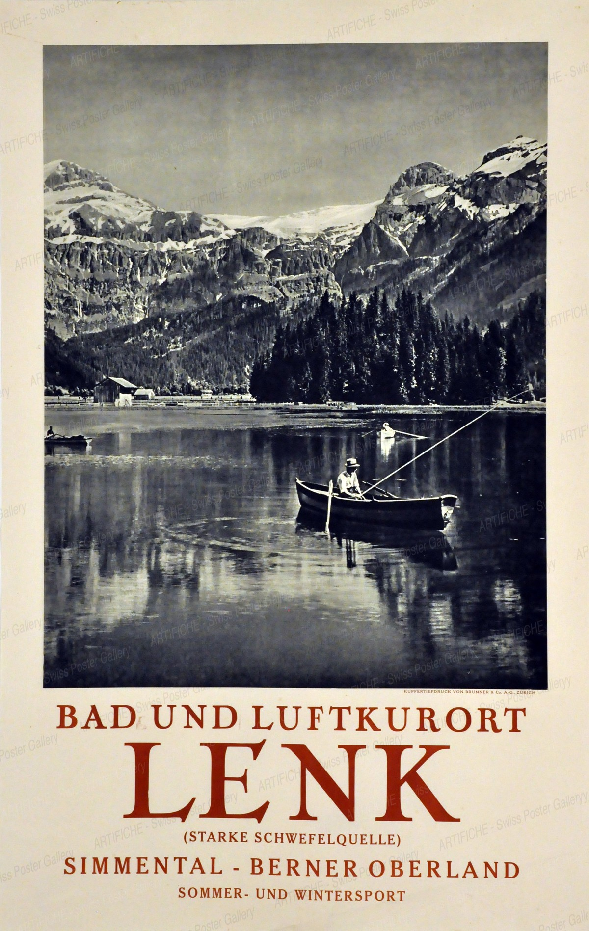 LENK – Bad- und Luftkurort – Simmental Berner Oberland – Sommer- und Wintersport, Artist unknown