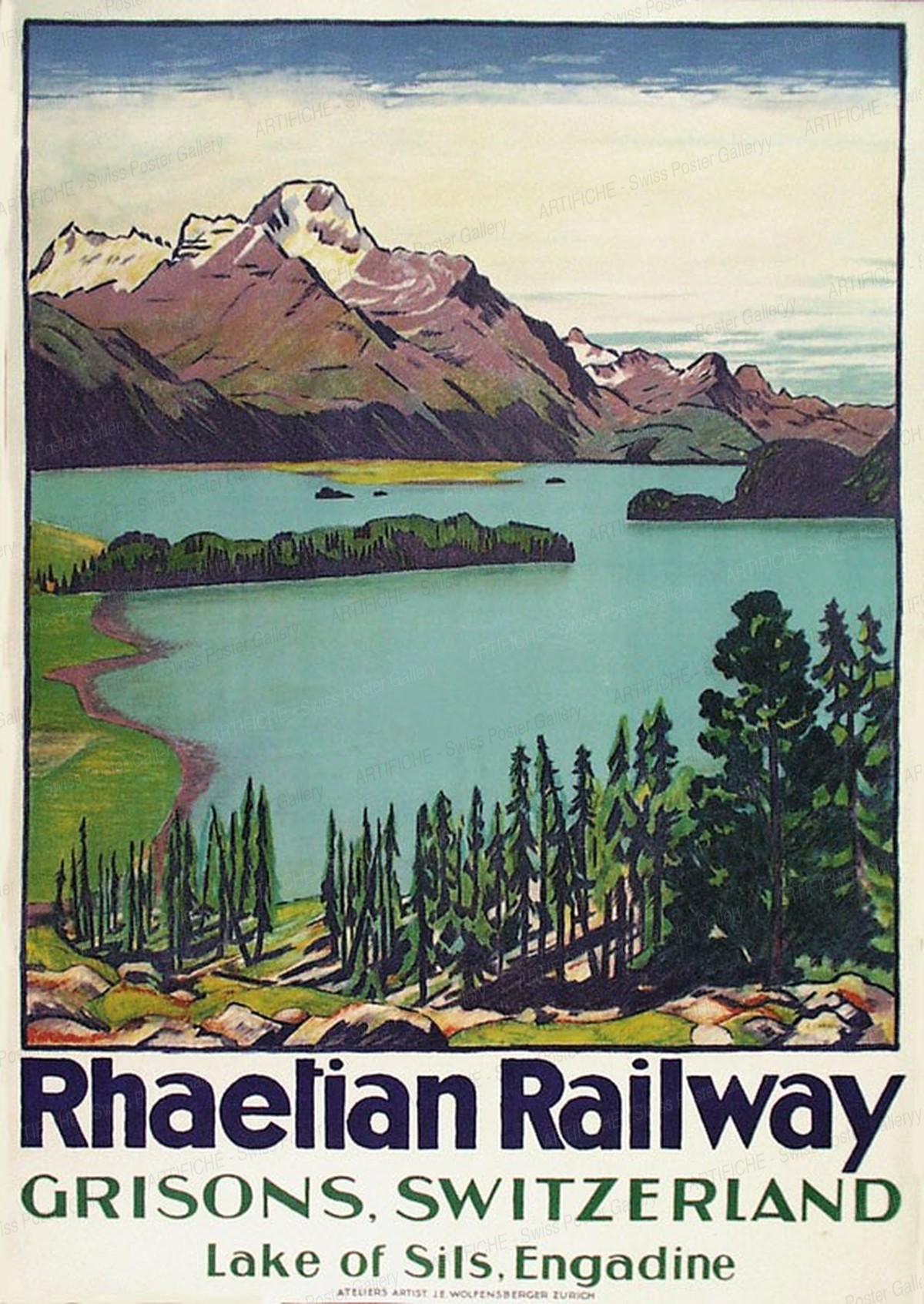 Rhaetian Railway – GRISONS, SWITZERLAND – Lake of Sils, Engadine, Emil Cardinaux