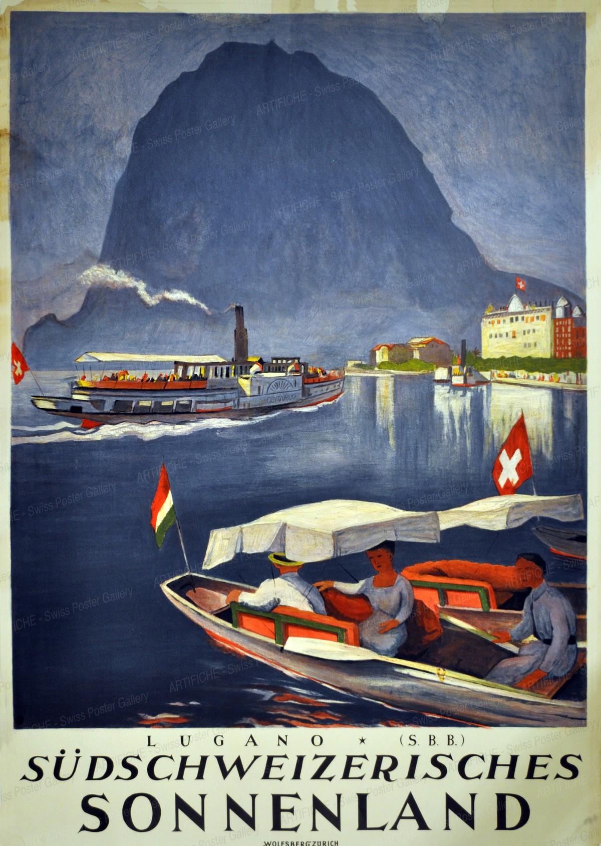 LUGANO S.B.B. Südschweizerisches Sonnenland, Otto Baumberger