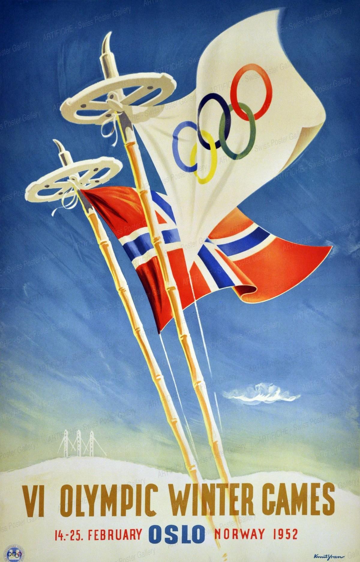 VI Olympic Winter Games 14. – 25. February OSLO Norway 1952, Knut Yran