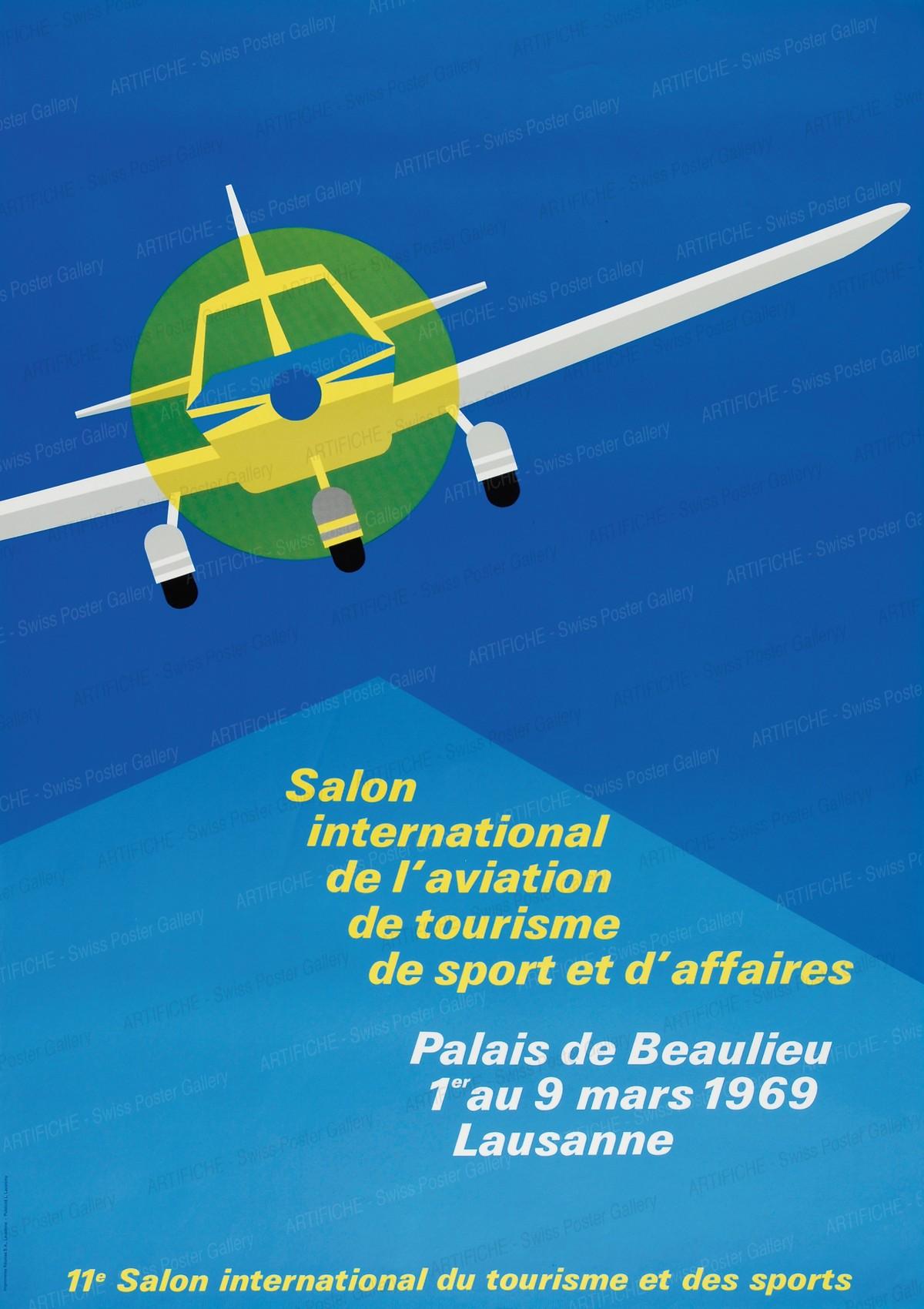 Salon international de l'aviation, de tourisme, de sport et d'affaires – Plaias de Beaulieu 1969 Lausanne, L. Lavanchi