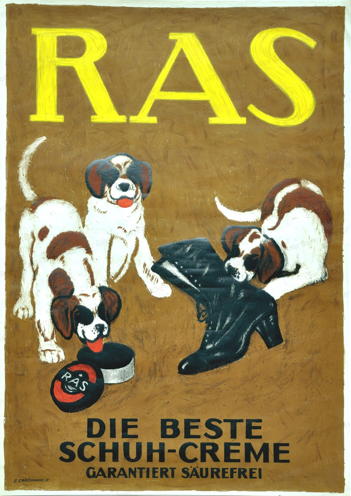 RAS – The best shoe polish, Emil Cardinaux