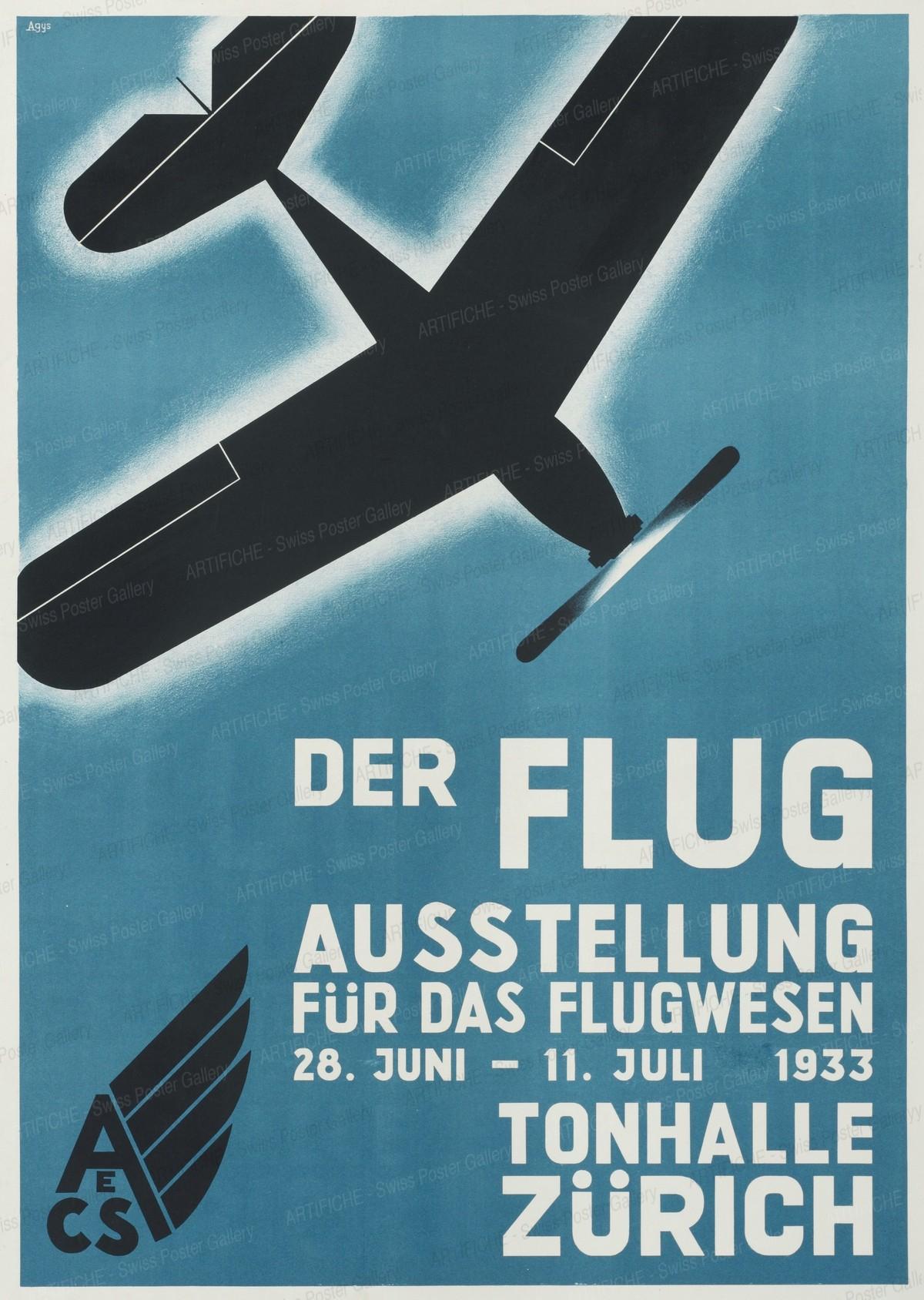 THE FLIGHT – Aviation Exhibition – Zurich, 19. Jh. CH Agys