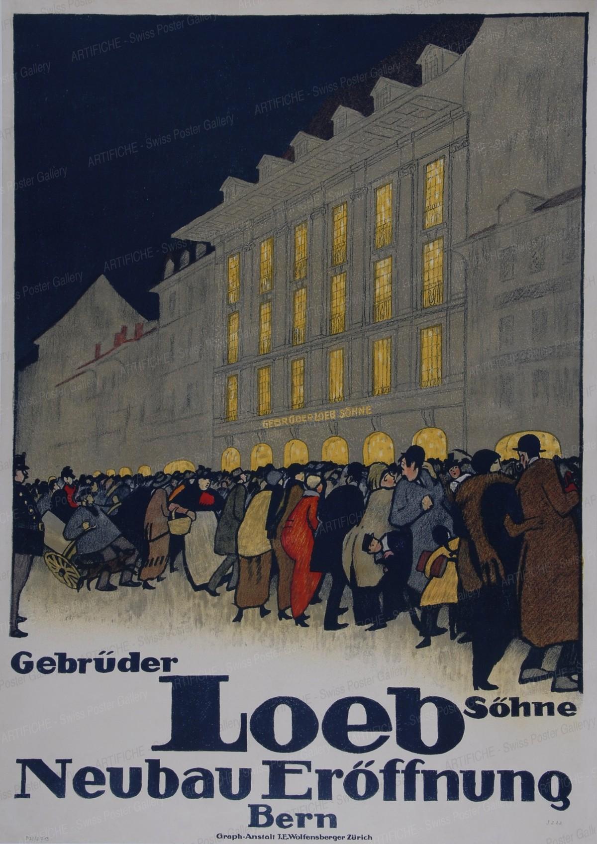 Opening of the Loeb Shop in Berne, Emil Cardinaux