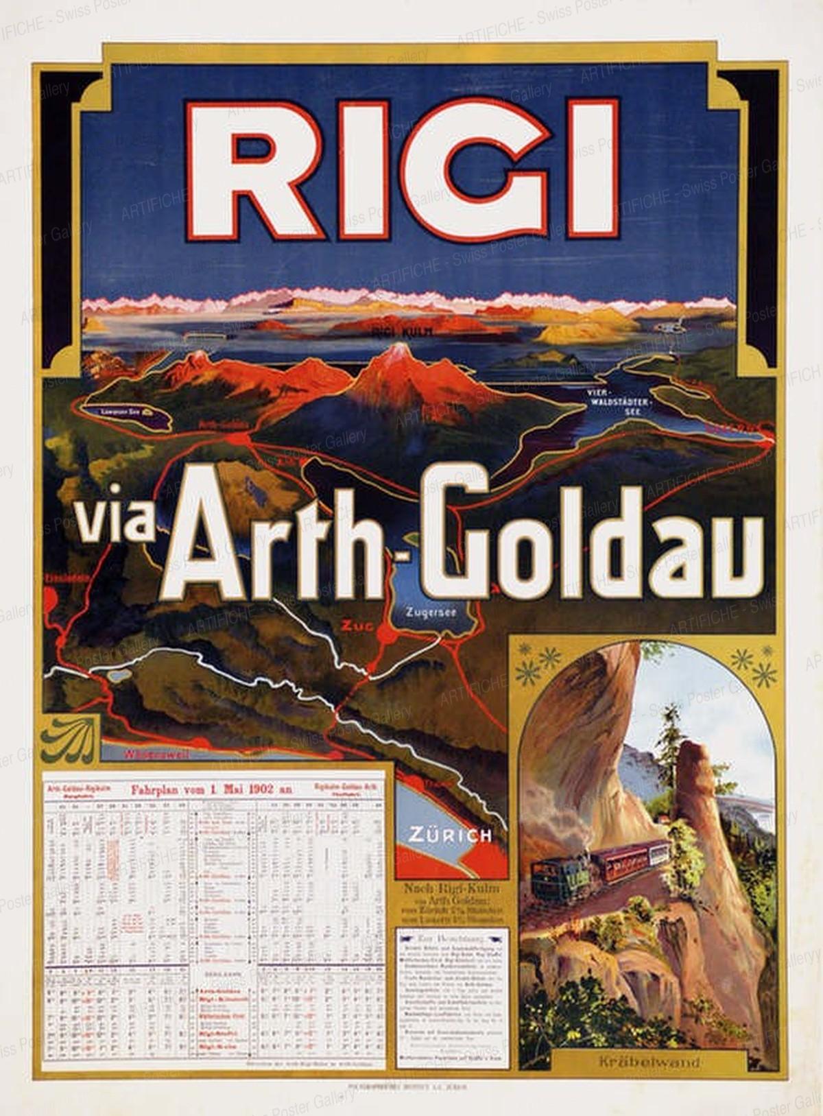 RIGI VIA ARTH GOLDAU 1874 – 1908, Artist unknown