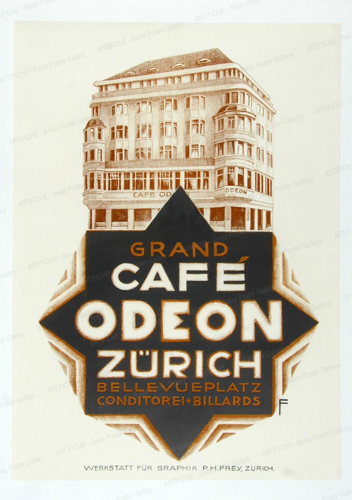 Grand Café ODEON Zürich – Bellevueplatz – Conditorei Billards, Paul H. Frey