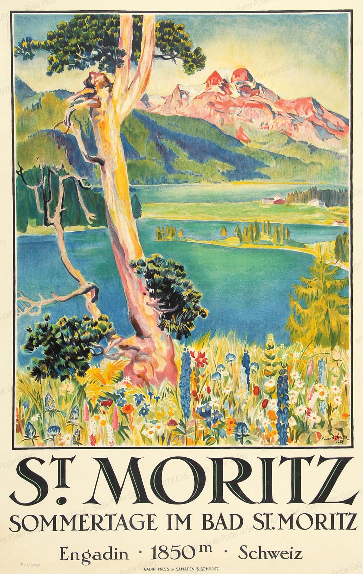 ST. MORITZ – SOMMERTAGE IM BAD ST. MORITZ, Edouard Stiefel