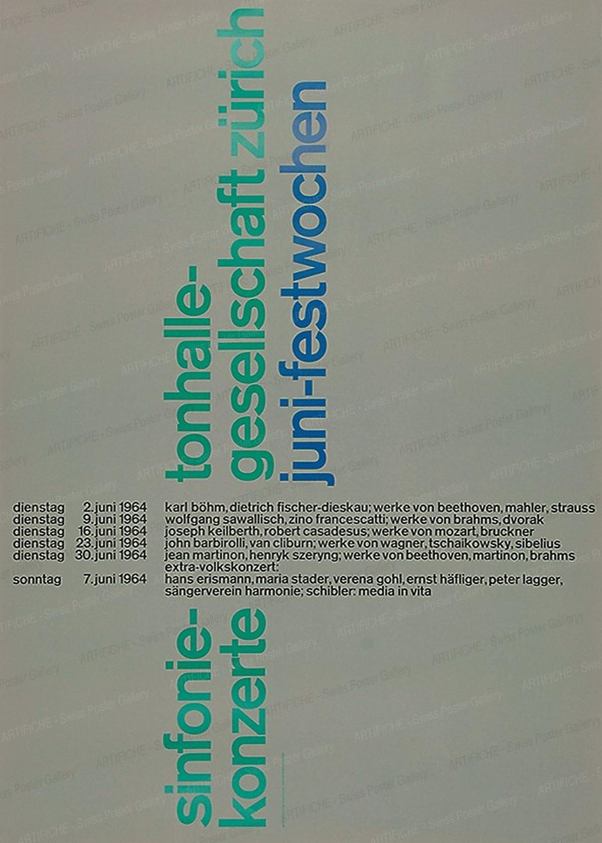 sinfonie-konzerte tonhalle-gesellschaft zürich juni-festwochen, Josef Müller-Brockmann