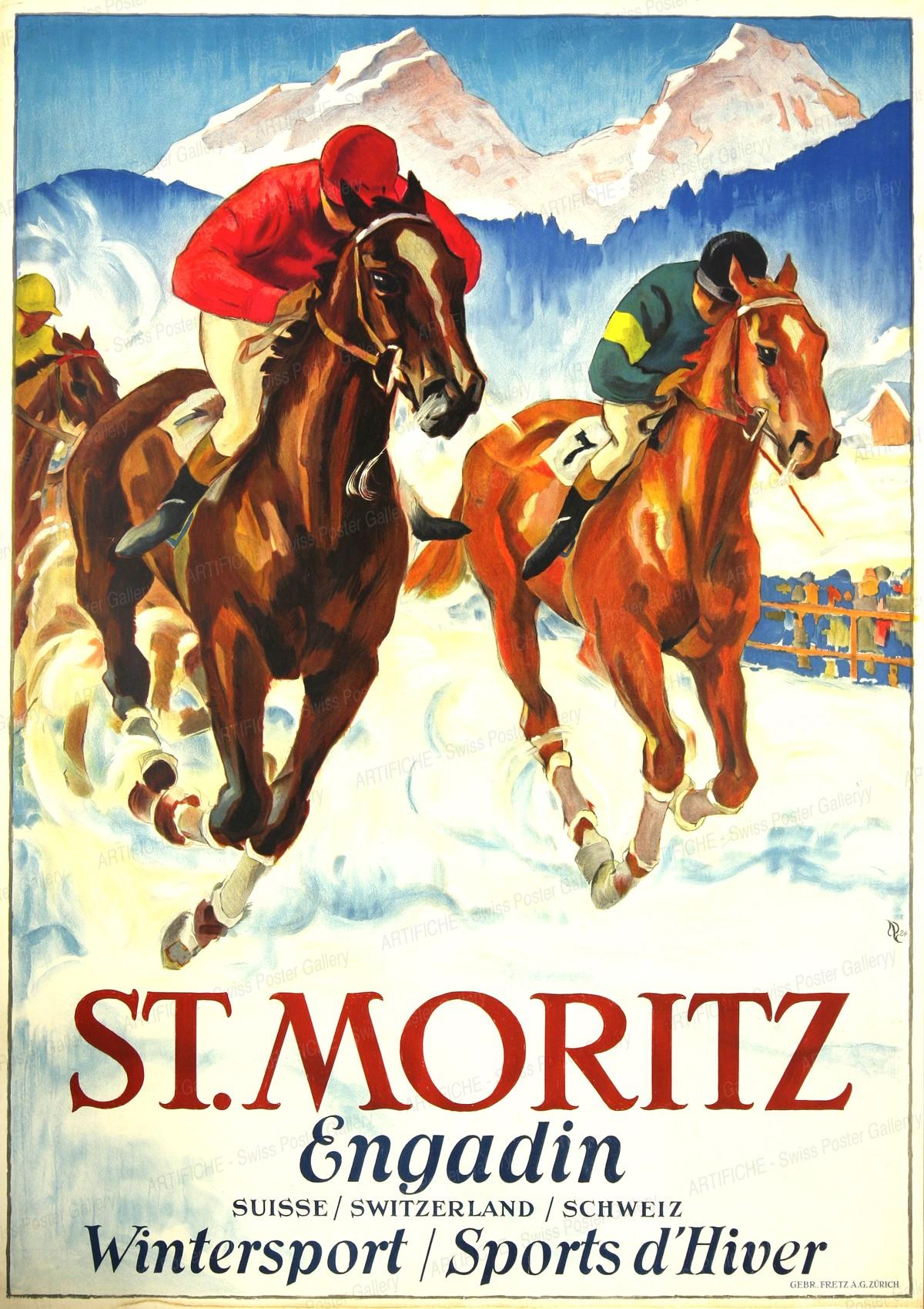 ST. MORITZ – ENGADINE Switzerland, Hugo Laubi