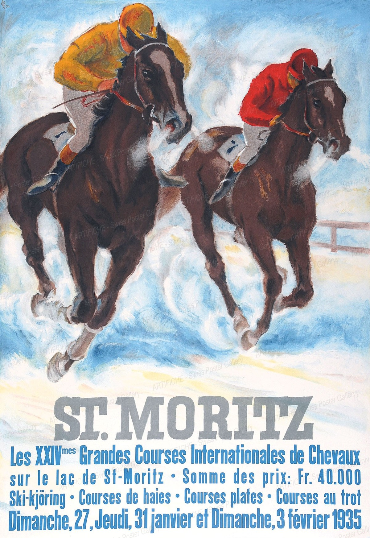 ST. MORITZ – ENGADIN Suisse / Switzerland / Schweiz – Wintersport / Sport d'Hiver, Hugo Laubi