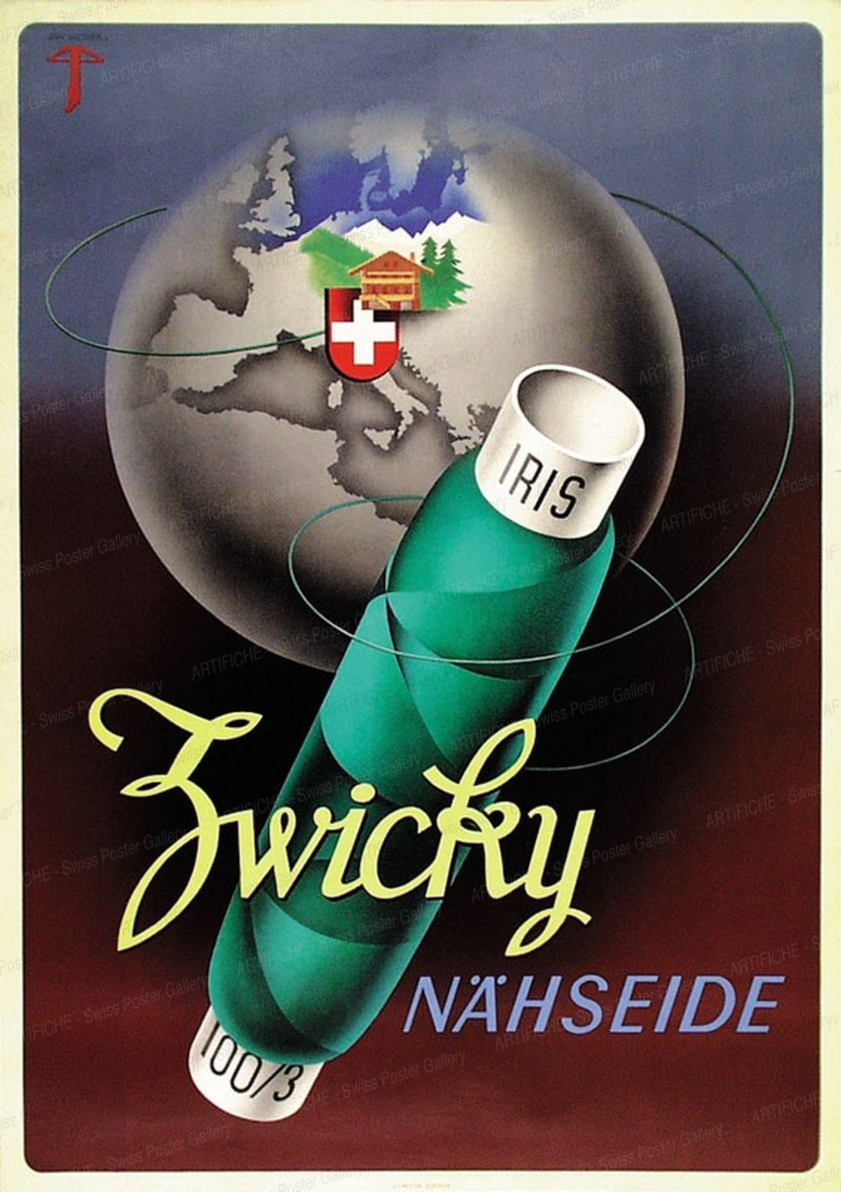 ZWICKY – Soies à coudre, Jean Walther