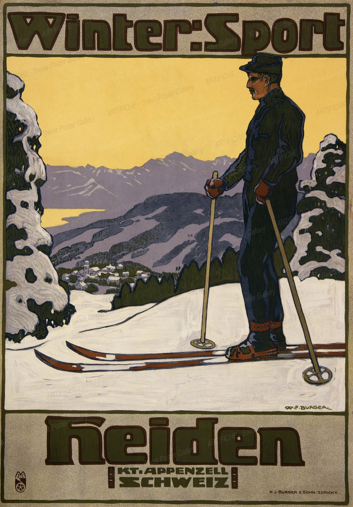 Winter-Sport HEIDEN – Kt. Appenzell (Schweiz), Wilhelm Friedrich Burger