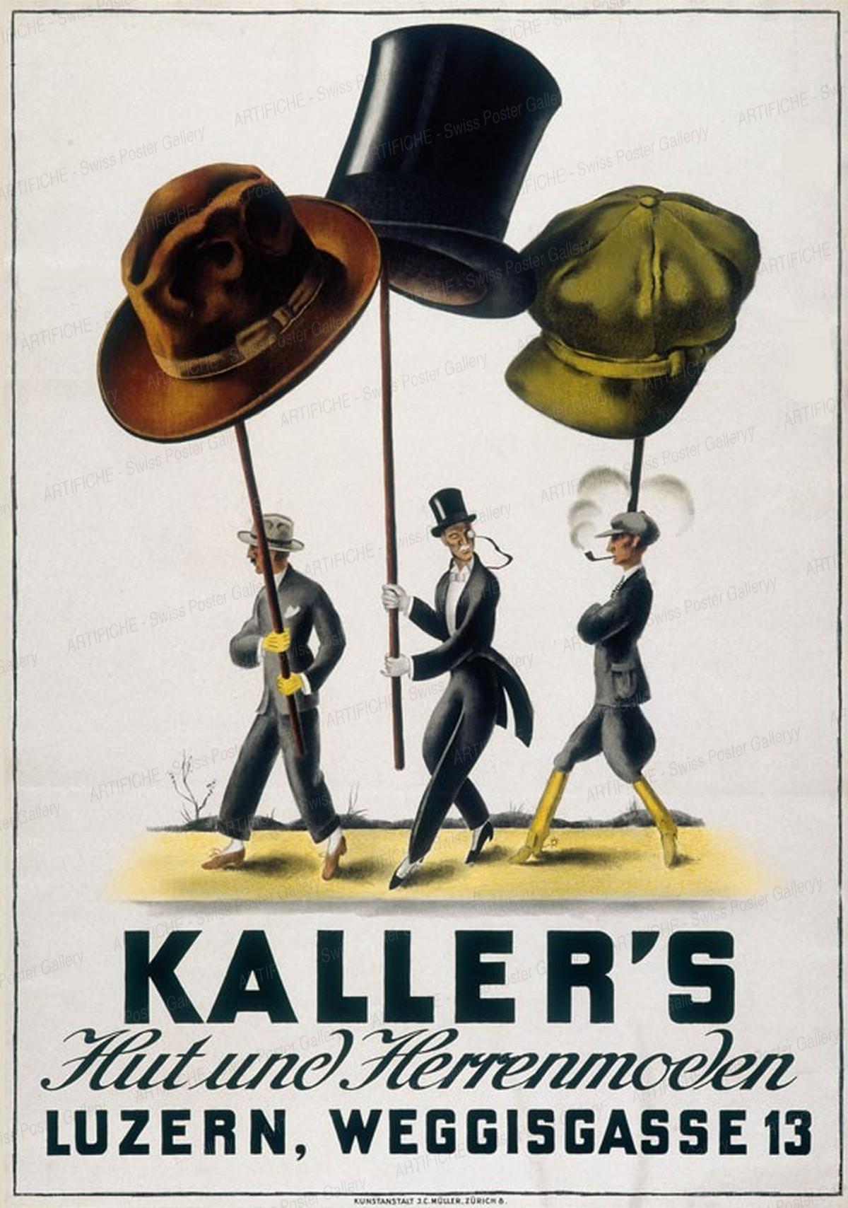 Kaller's Hut und Herrenmoden Luzern Weggisgasse 13, Artist unknown