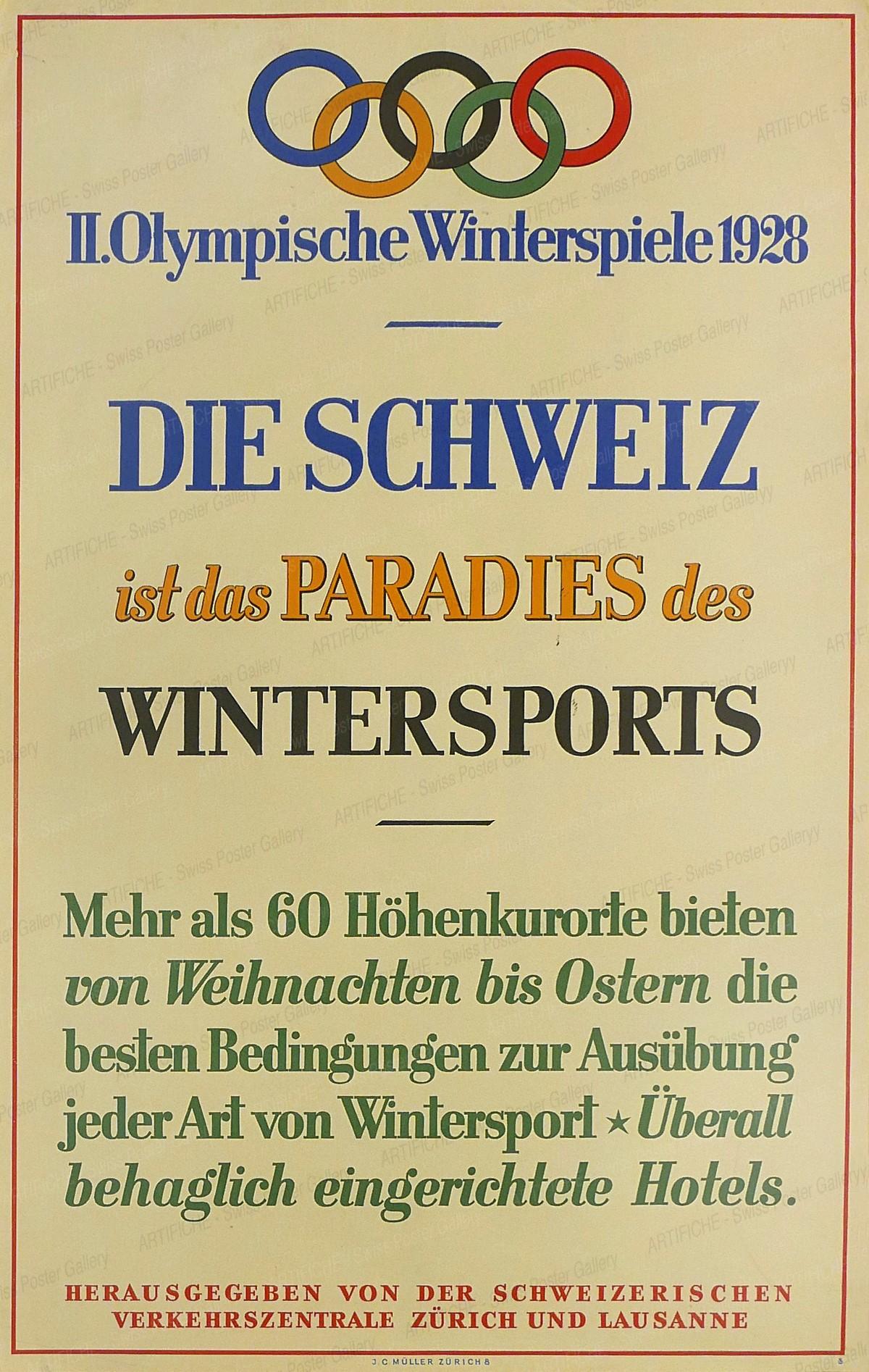 II. Olympische Winterspiele 1928, Artist unknown