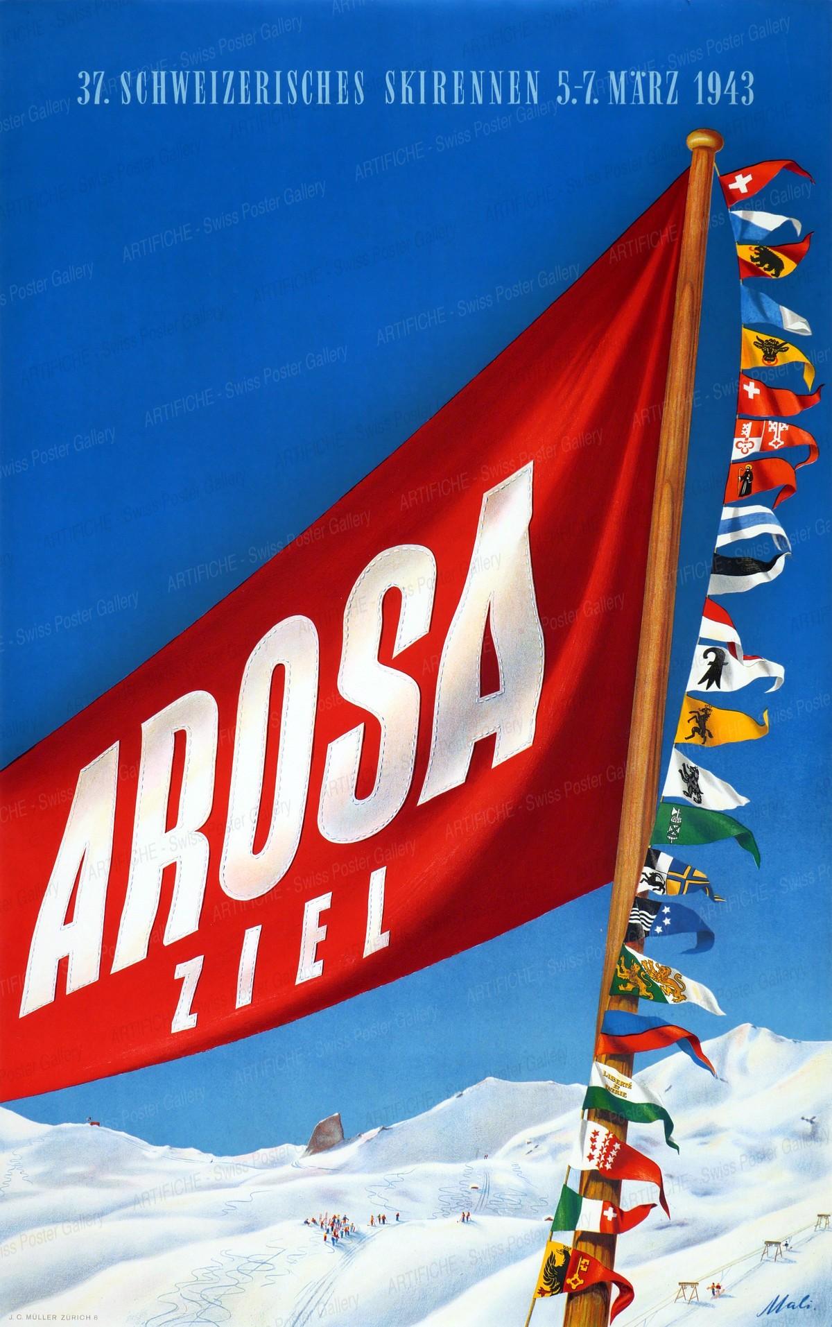 37. Schweizerisches Skirennen – Arosa – Ziel 1943, Otto Malischke