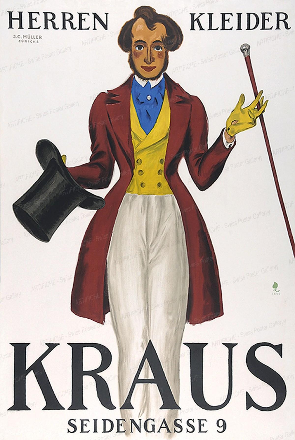 Kraus – Seidengasse 9 – Herrenkleider, Hugo Laubi