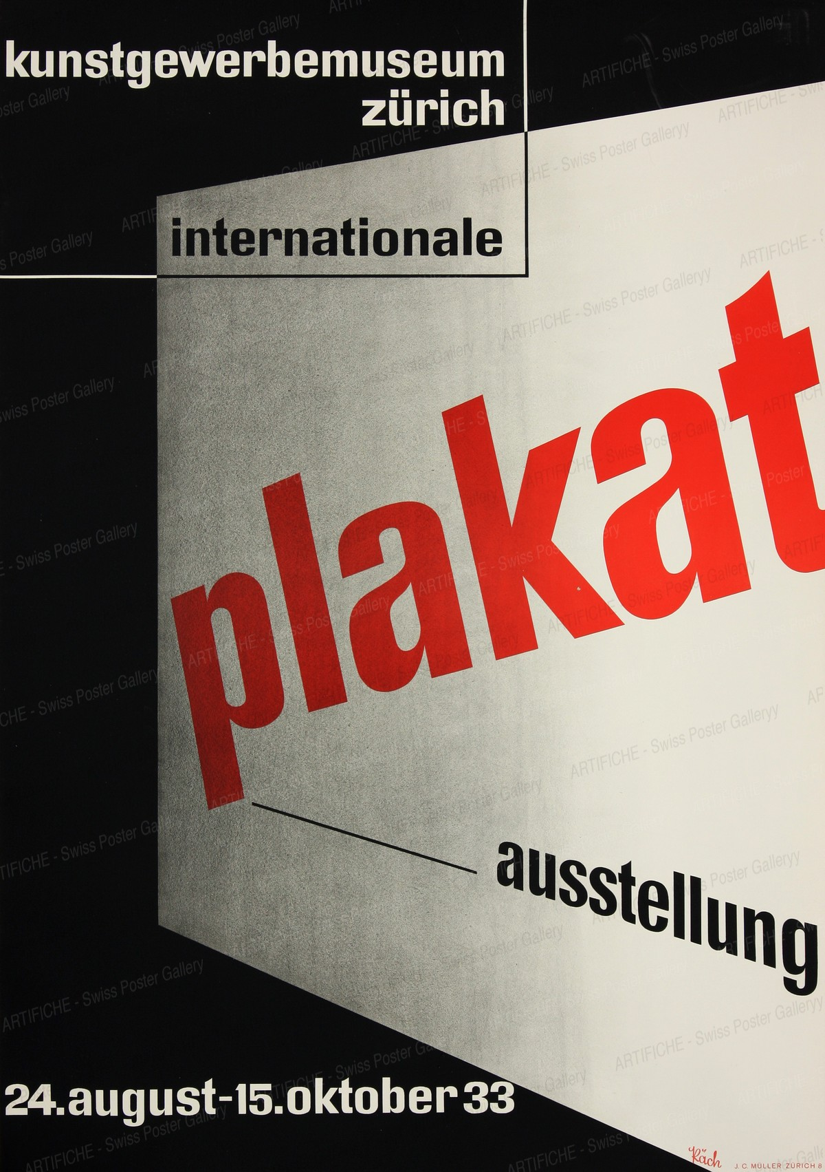 Internationale Plakat Ausstellung, Walter Käch
