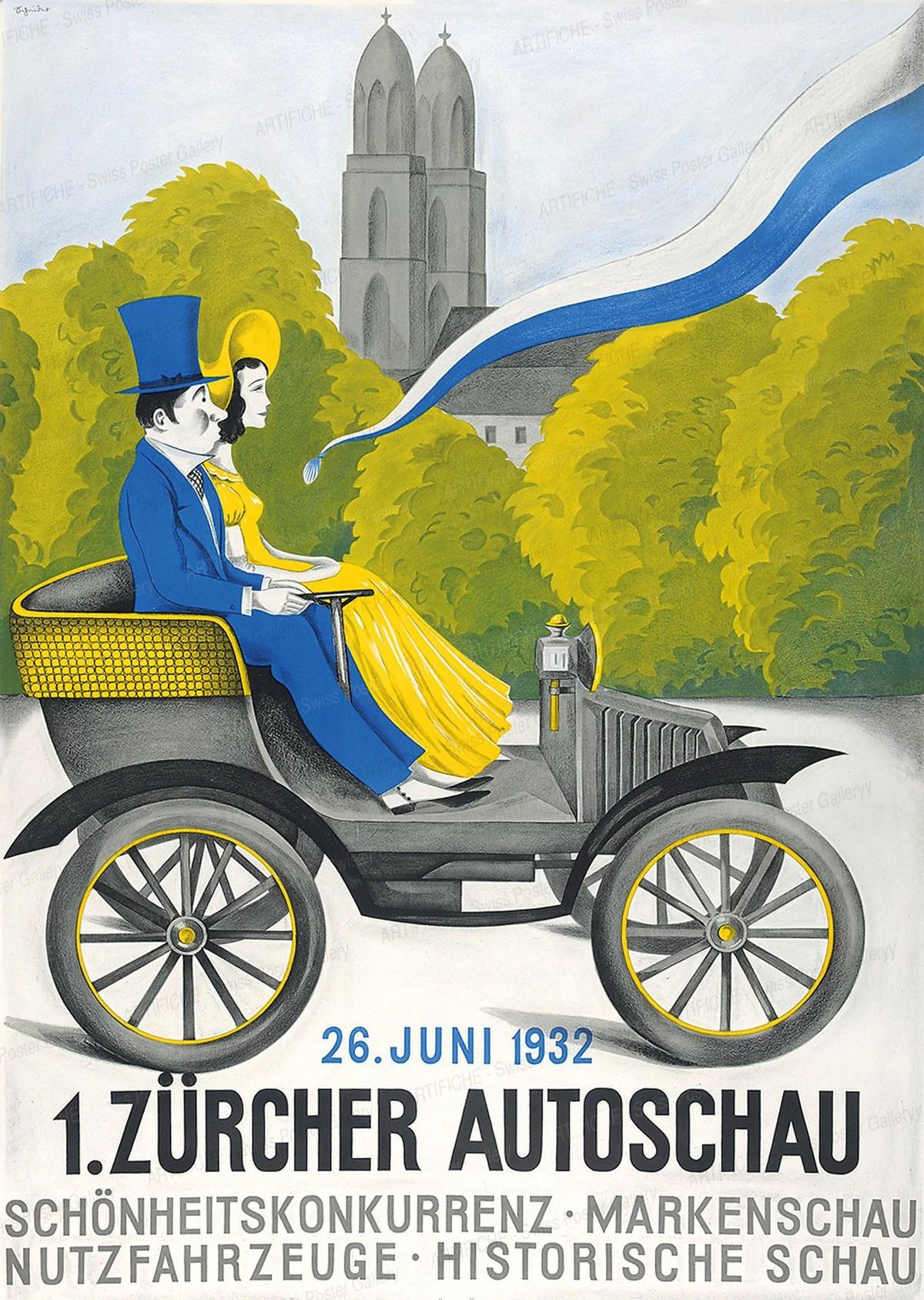 1. Zürcher Autoschau 26. Juni 1932, Artist unknown