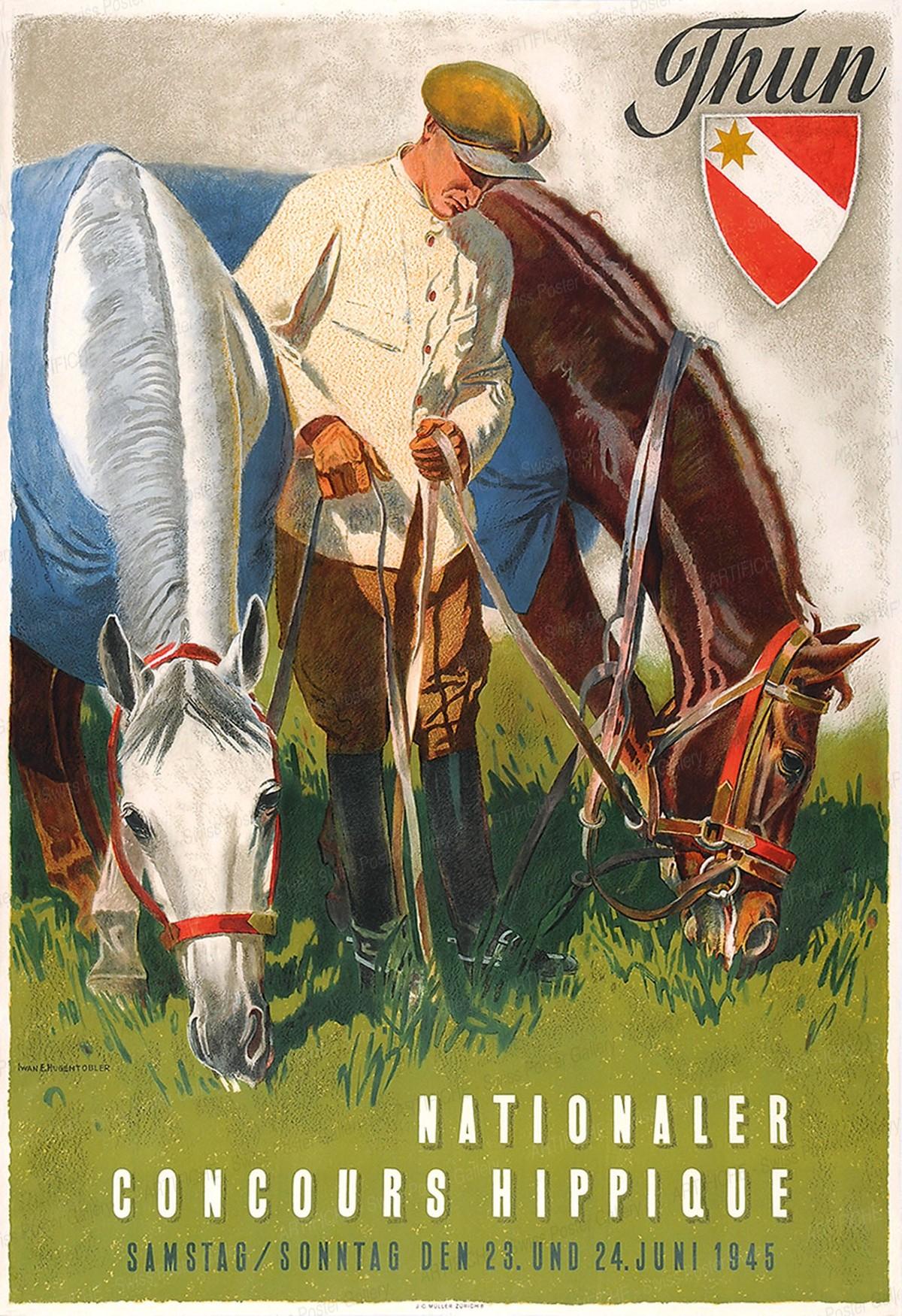 Nationaler Concours Hippique – Thun 1945, Iwan Edwin Hugentobler
