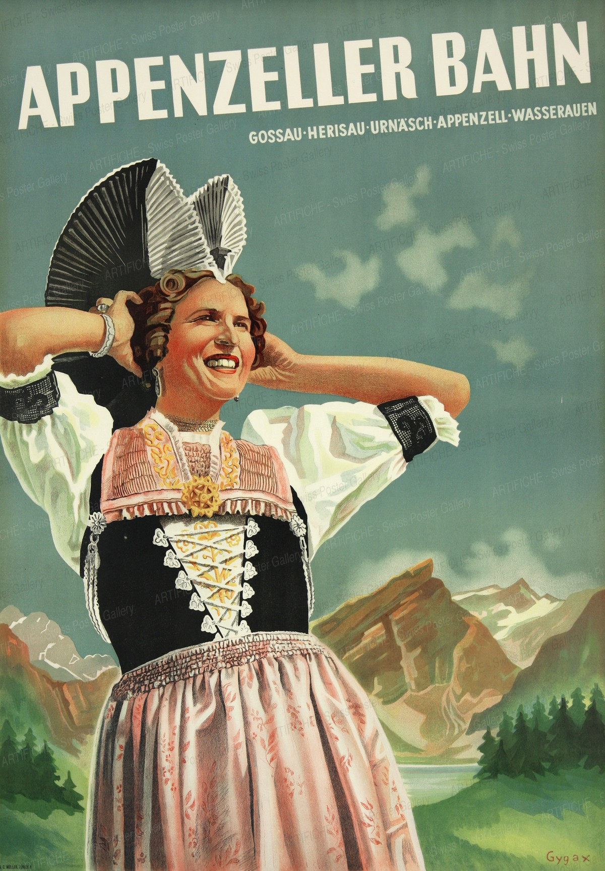 Appenzeller Bahn – Herisau Urnäsch Appenzell, Franz Gygax