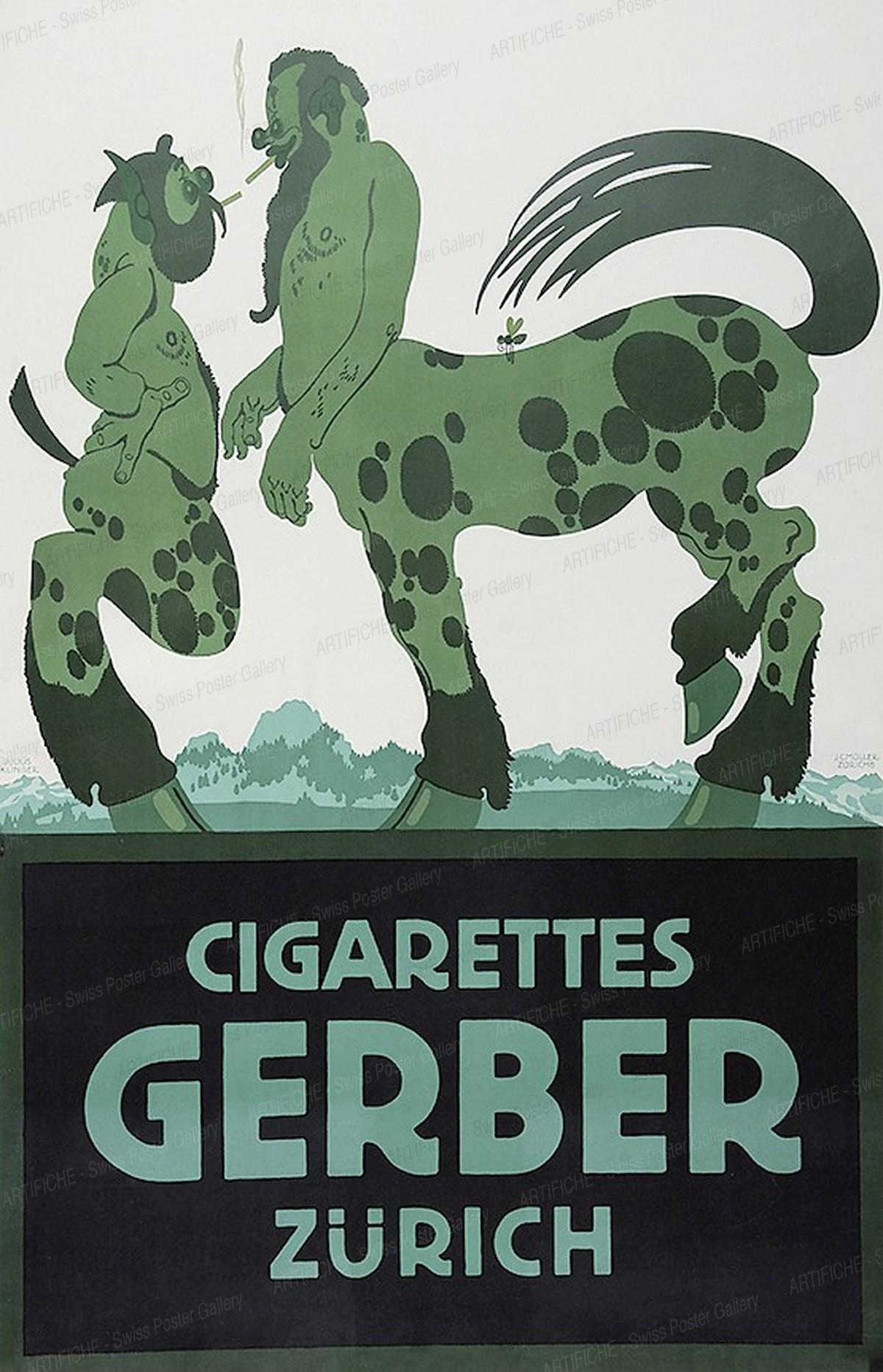 Cigarettes Gerber Zürich, Julius Klingler