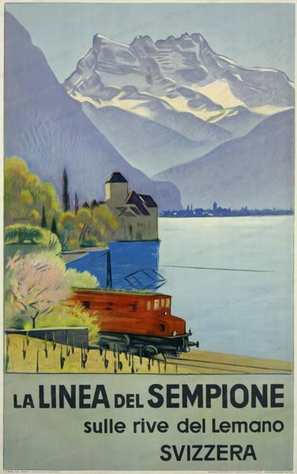 La Linea del Sempione sulle rive del Lemano – Svizzera, Emil Cardinaux