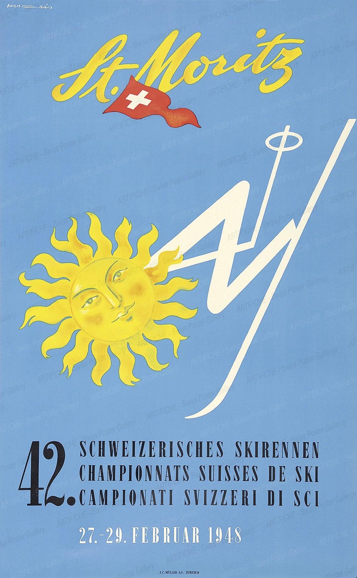 St. Moritz – 42. Schweizerisches Skirennen – 42. Championnats Suisses de Ski – 42. Campionati Svizzeri di Sci – 27.-29. Februar 1948, Franco Barberis