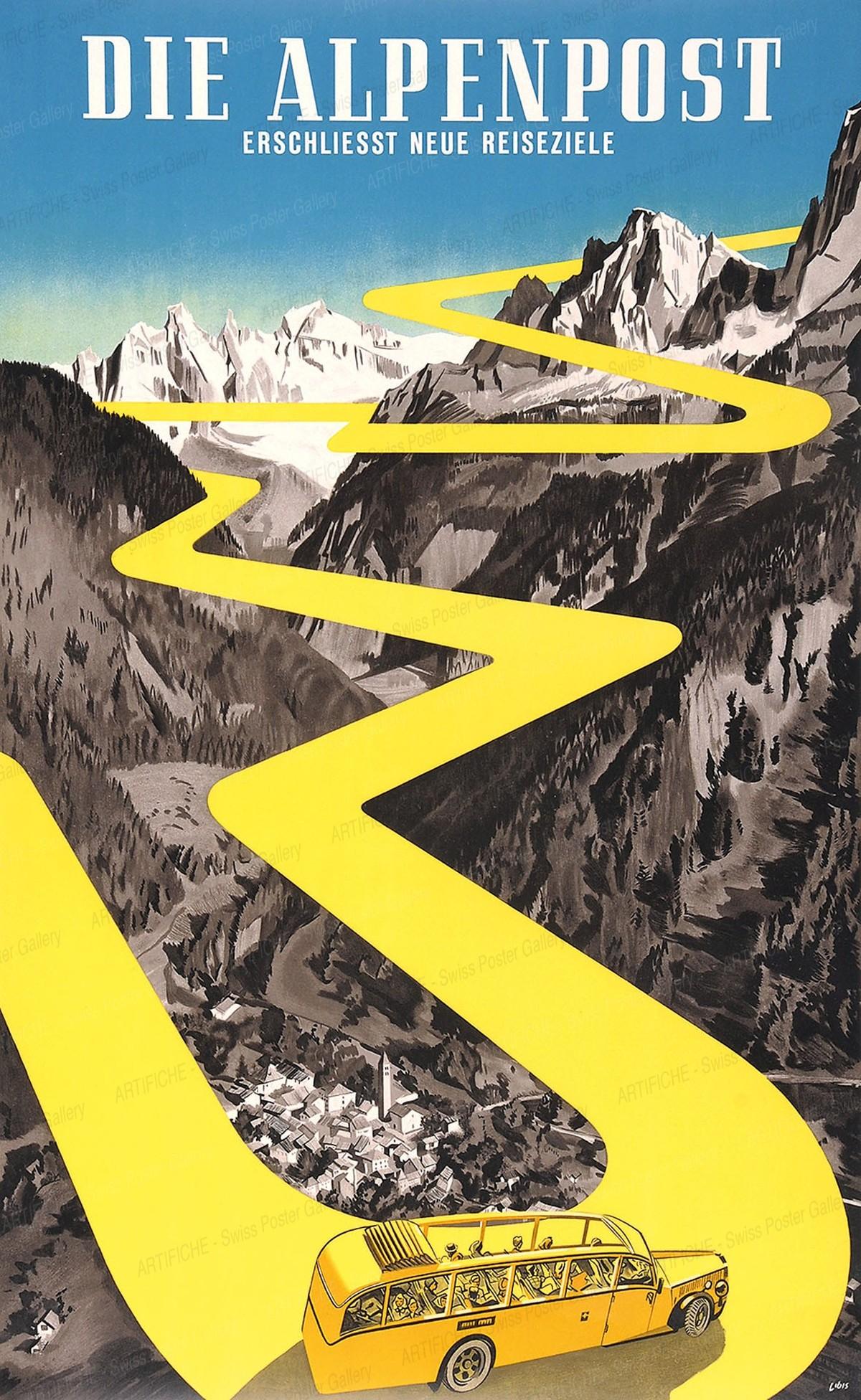 Die Alpenpost erschliesst neue Reiseziele, Herbert Berthold Libiszewski