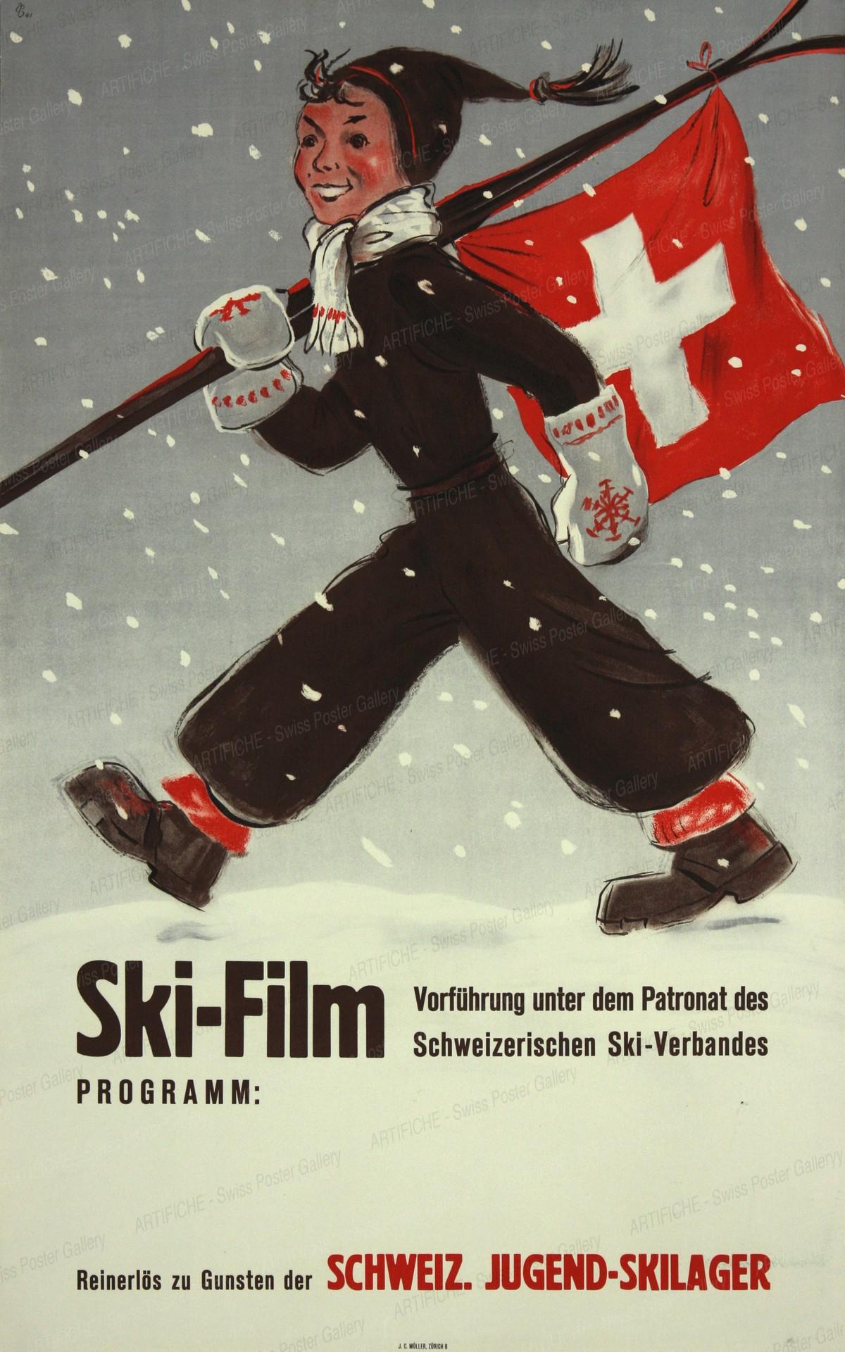 Ski-Film – Schweiz. Jugend-Skilager, Hugo Laubi