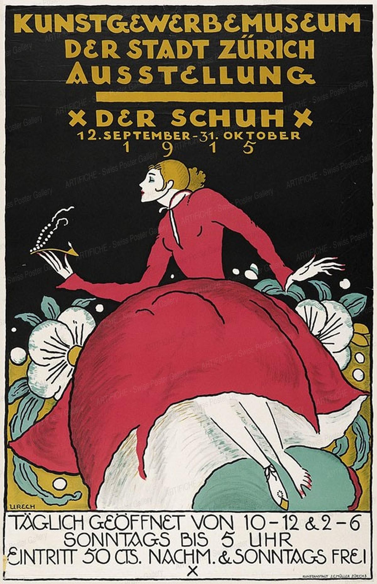 Kunstgewerbemuseum der Stadt Zürich -Ausstellung – Der Schuh 1915, Rudolf Urech