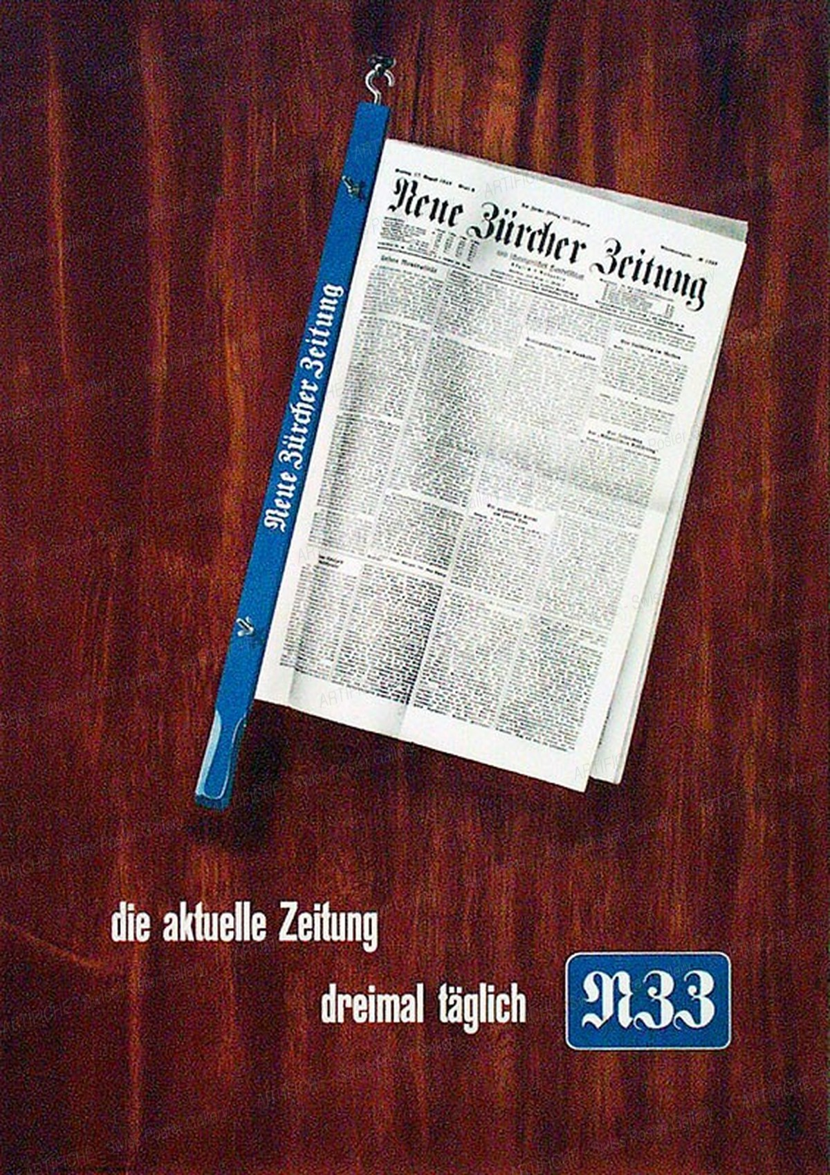 NZZ – The new Zurich Times, Hermann Suter