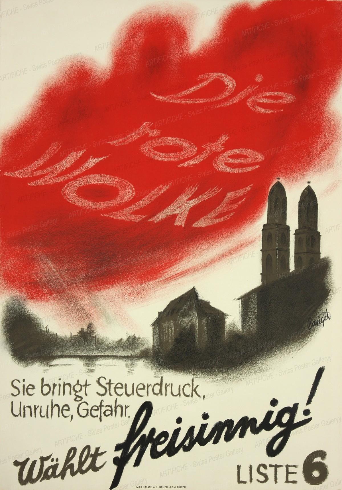 Die rote Wolke – wählt freisinnig!, Alois Carigiet
