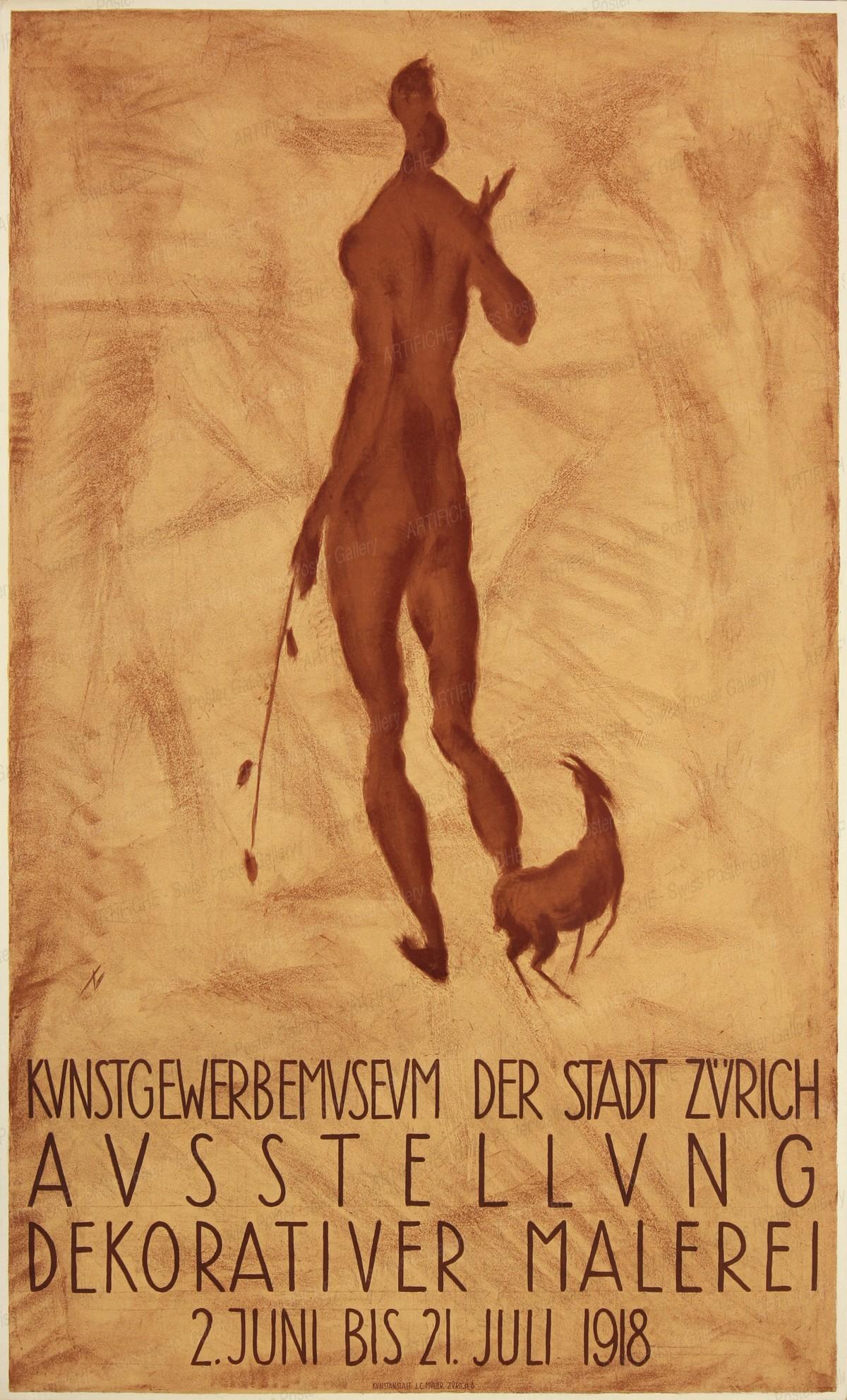 Kunstgewerbemuseum der Stadt Zürich -Ausstellung dekorativer Malerei, Otto Morach