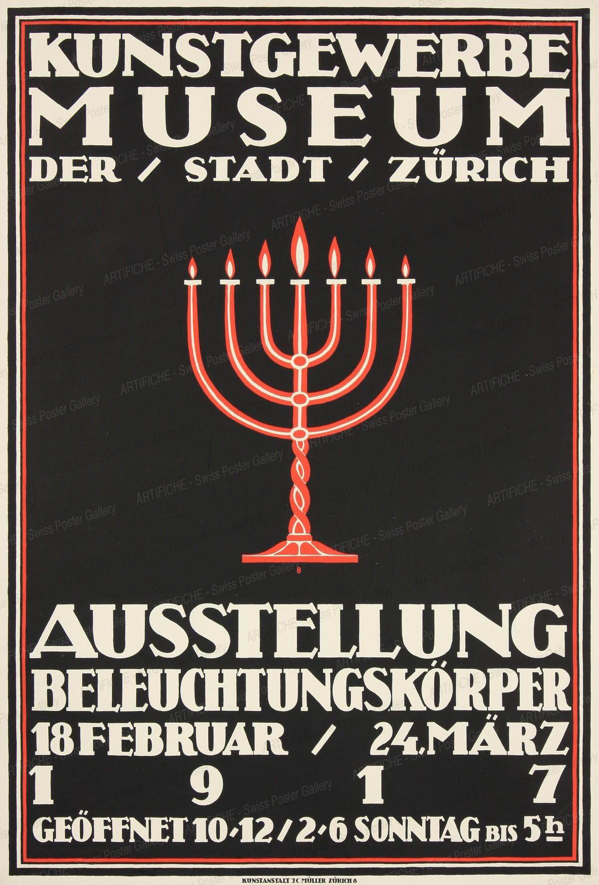 Kunstgewerbemuseum der Stadt Zürich -Ausstellung Beleuchtungskörper, Otto Baumberger