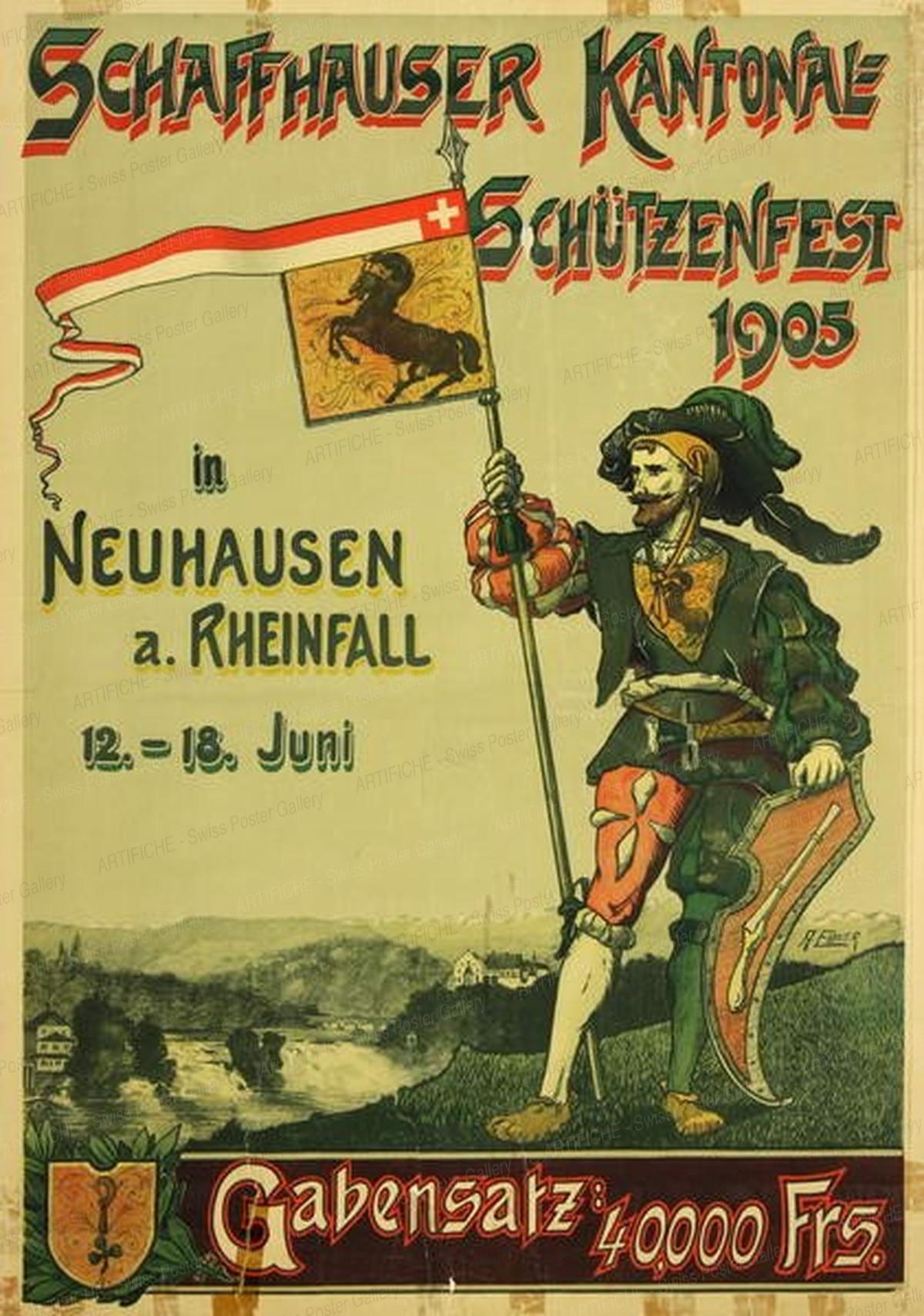 Schaffhauser Kantonal Schützenfest in Neuhausen a. Rheinfall, Ebner A.