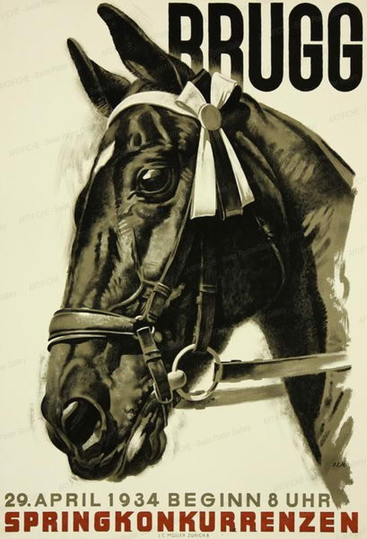 BRUGG – Springkonkurrenzen 1934, Iwan Edwin Hugentobler