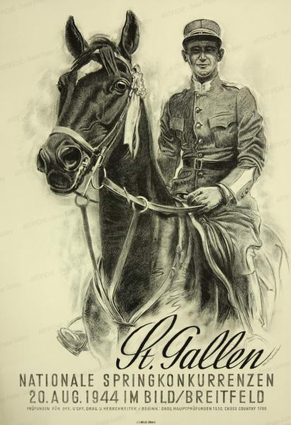 Concours hippique – Horse race St. Gallen, Iwan Edwin Hugentobler