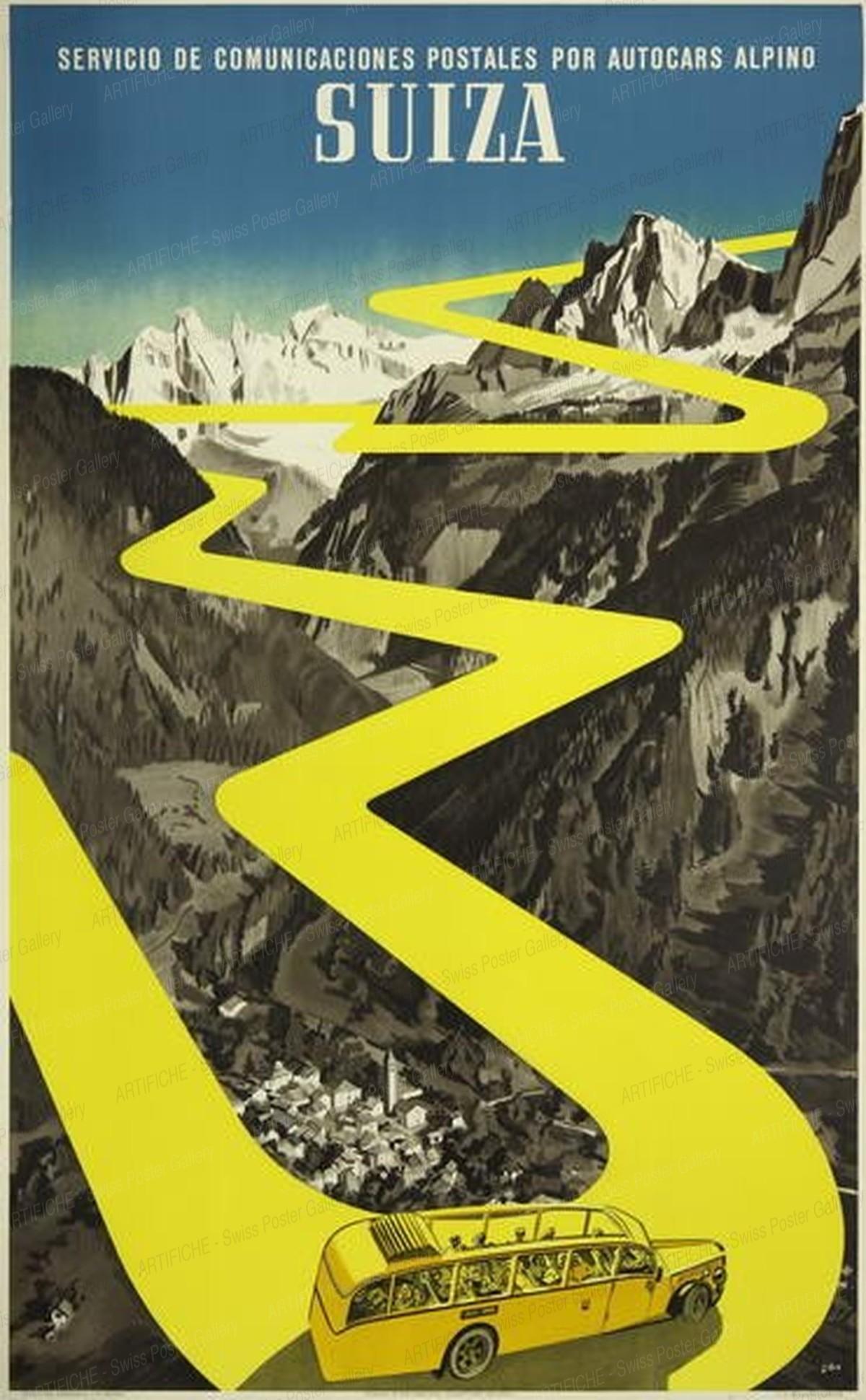 Suiza – Servicio de comunicaciones postales por autocars alpino, Herbert Berthold Libiszewski
