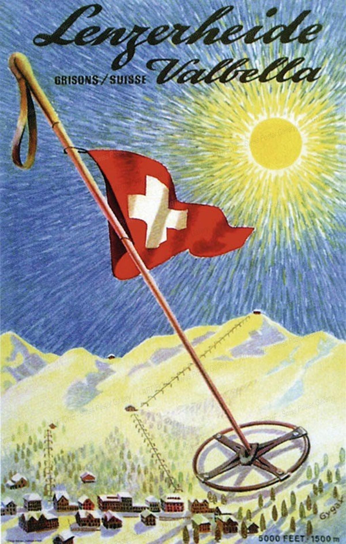 Lenzerheide – Valbella – Grisons / Suisse – 5000 feet. 1500 m., Franz Gygax