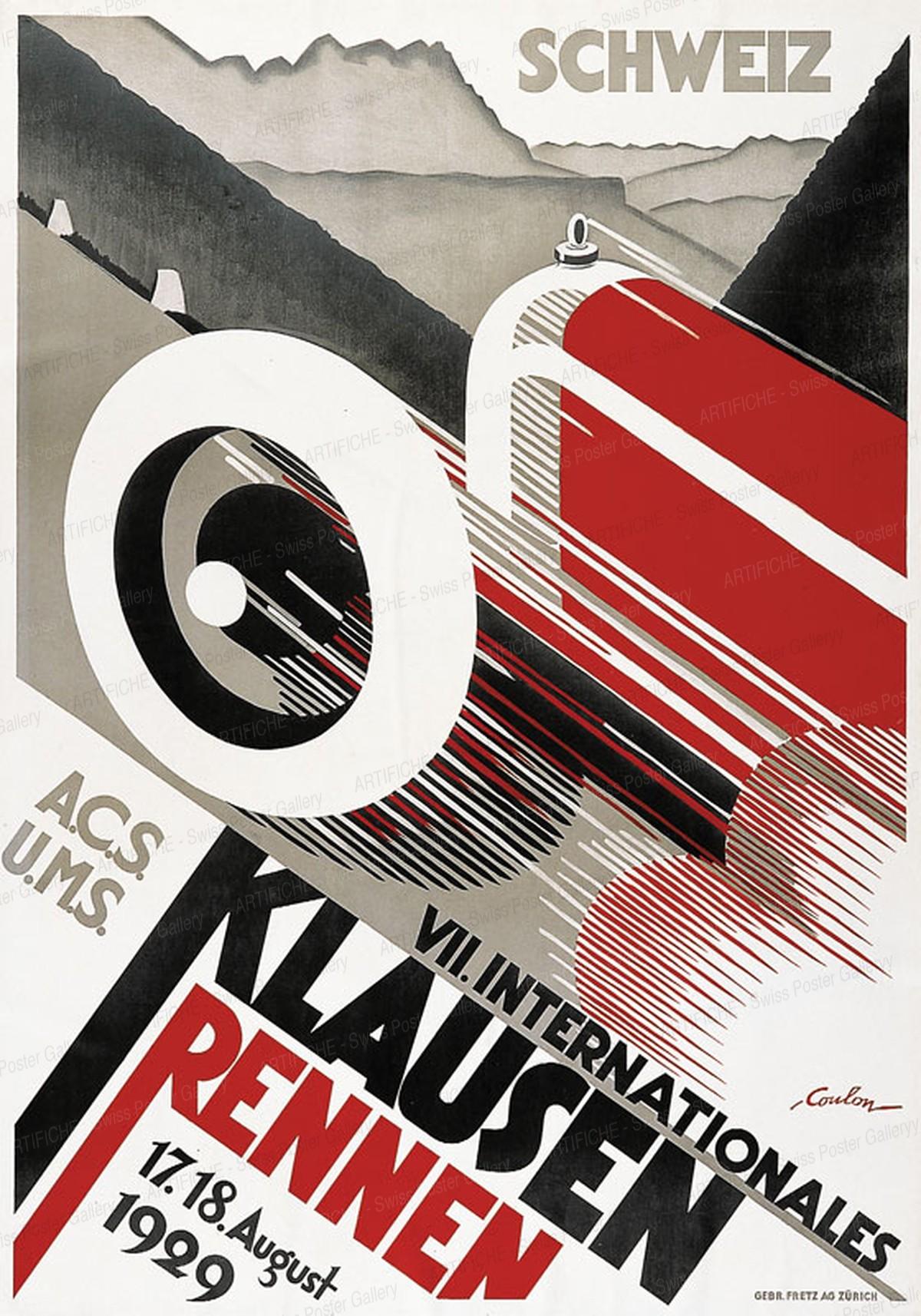 VIIème Course Internationale du Klausen 1929, Eric de Coulon