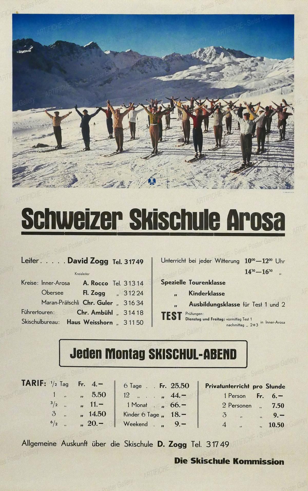 Schweizer Skischule Arosa, Artist unknown