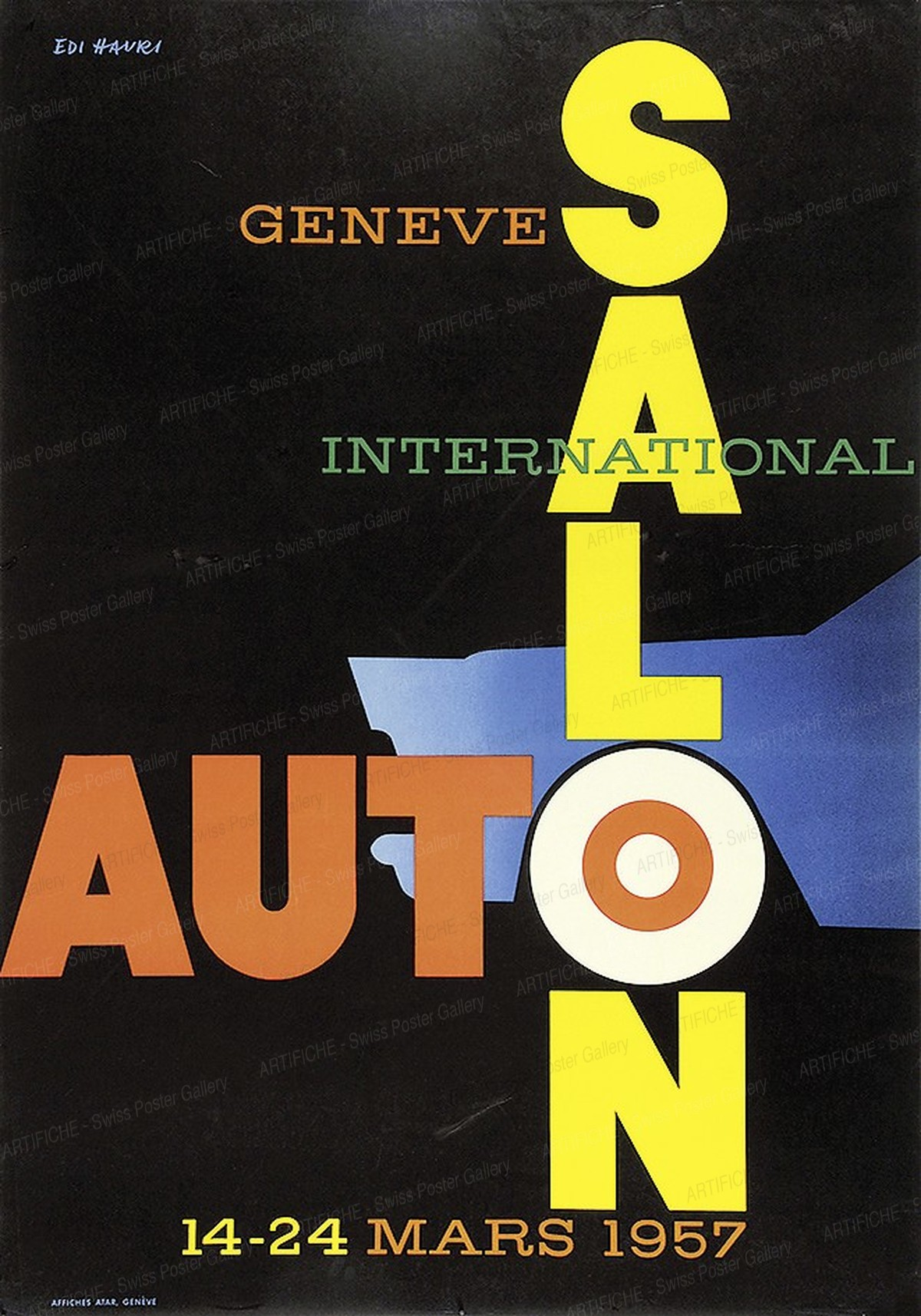 International Auto Salon Genève 1957, Edi Hauri