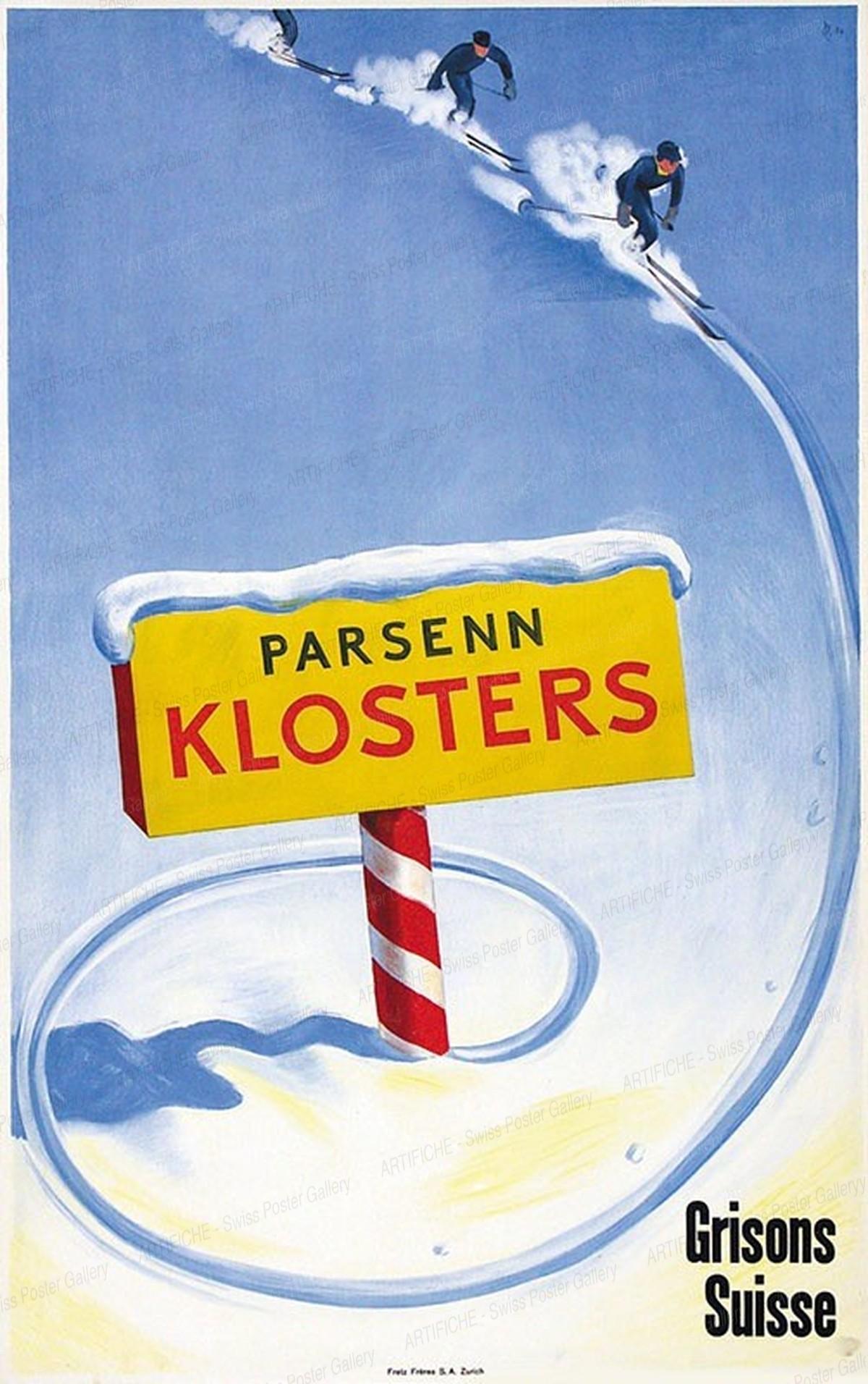KLOSTERS Parsenn Grisons Suisse, Hugo Laubi