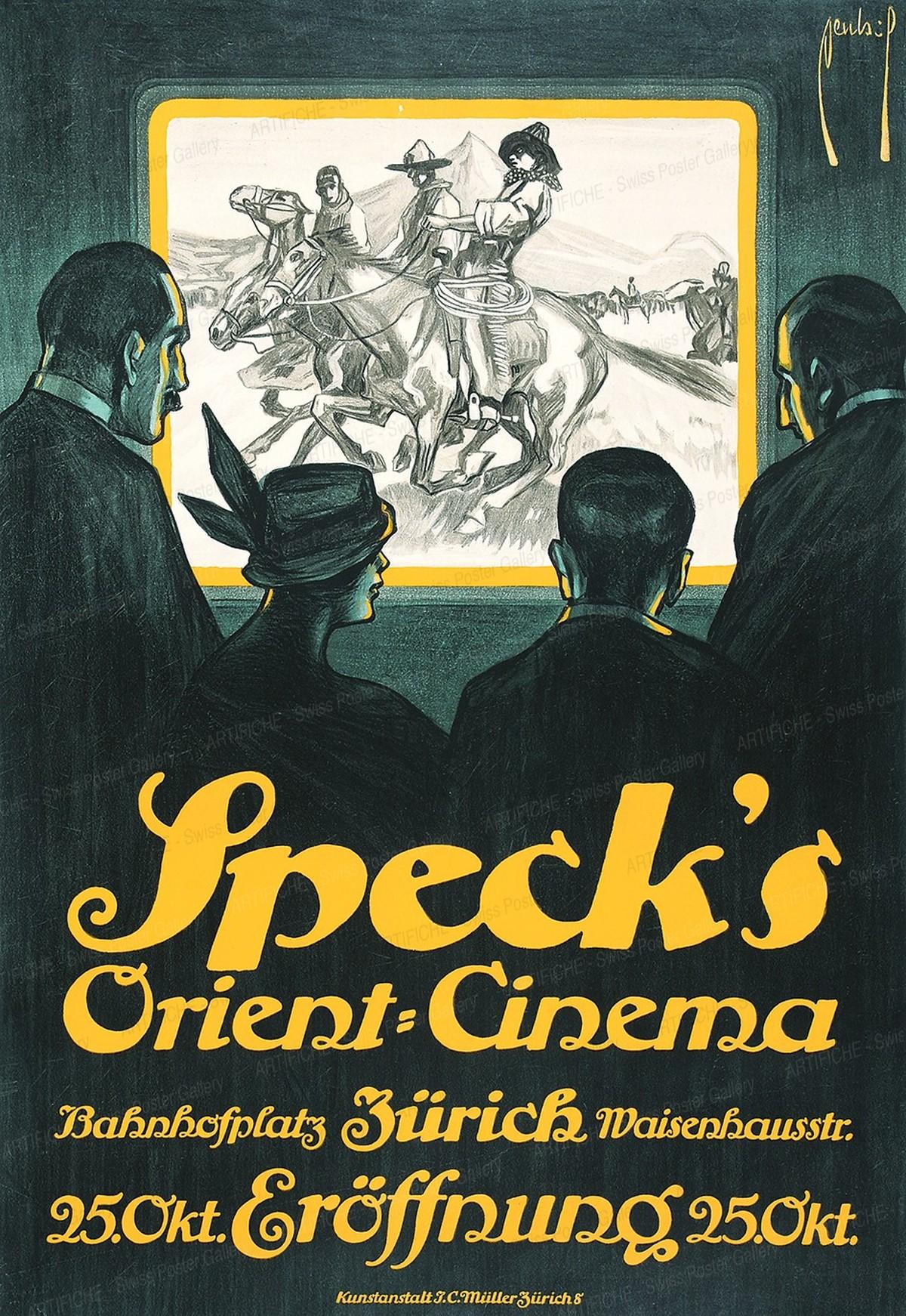 Speck's Orient-Cinema Bahnhofplatz Zürich, Ernst Dryden