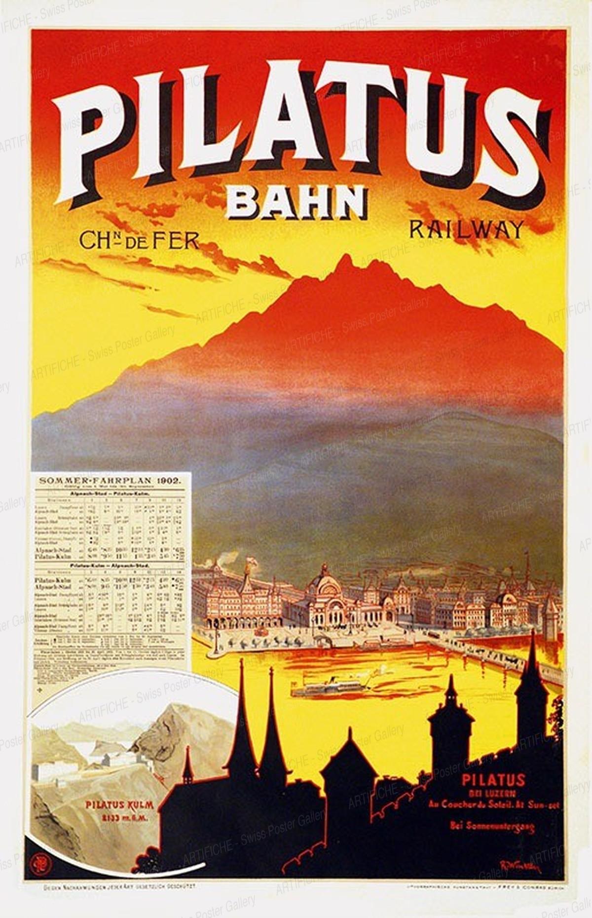 PILATUS BAHN – Chemin de Fer – Railway – Schweiz Switzerland Suisse, R. Winkler