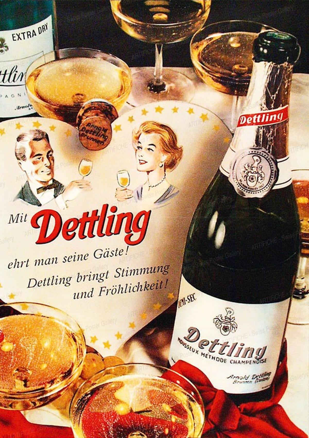Dettling Mousseux – Mit Dettling ehrt man seine Gäste!, Artist unknown