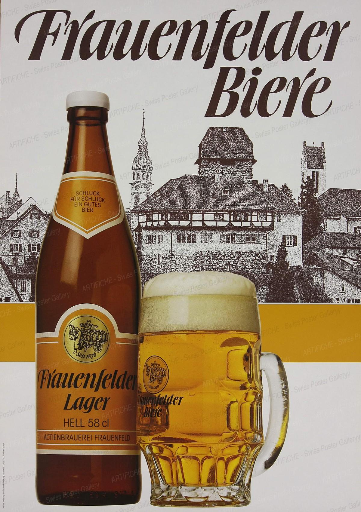 Frauenfelder Biere, Advisa Werbung & Visuelle Gestaltung (Advertising Agency)