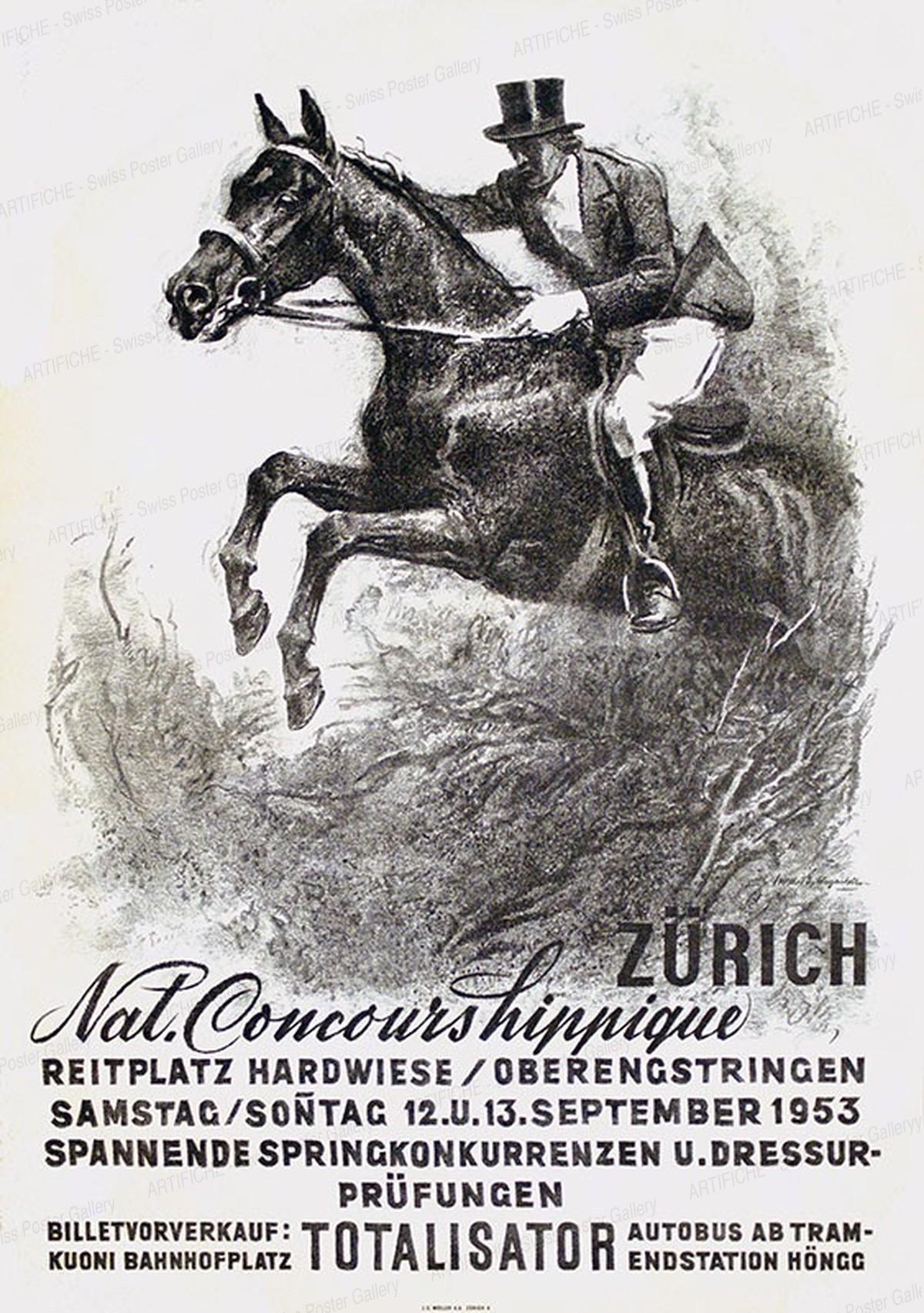 Nat. Concours Hippique Zürich – Reitplatz Hardwiese, Iwan Edwin Hugentobler