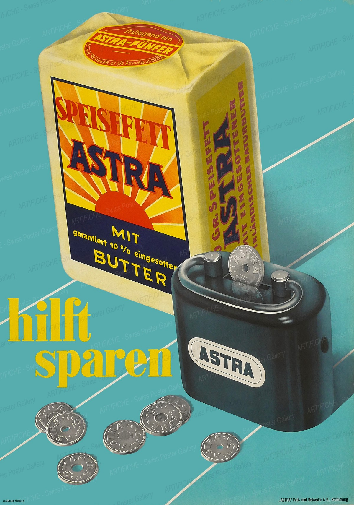 Astra cooking fat, Werner Allenbach