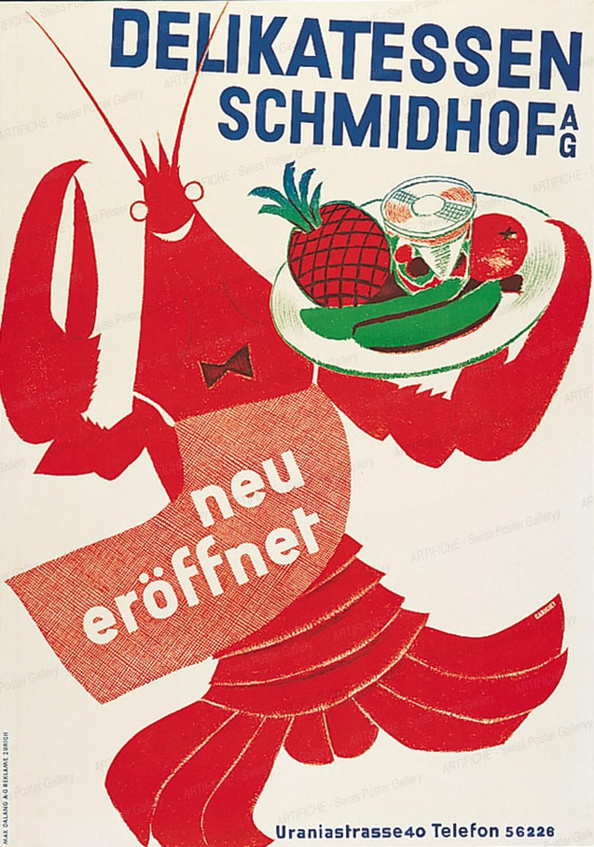 Delicacies Schmidhof AG – new opening, Alois Carigiet